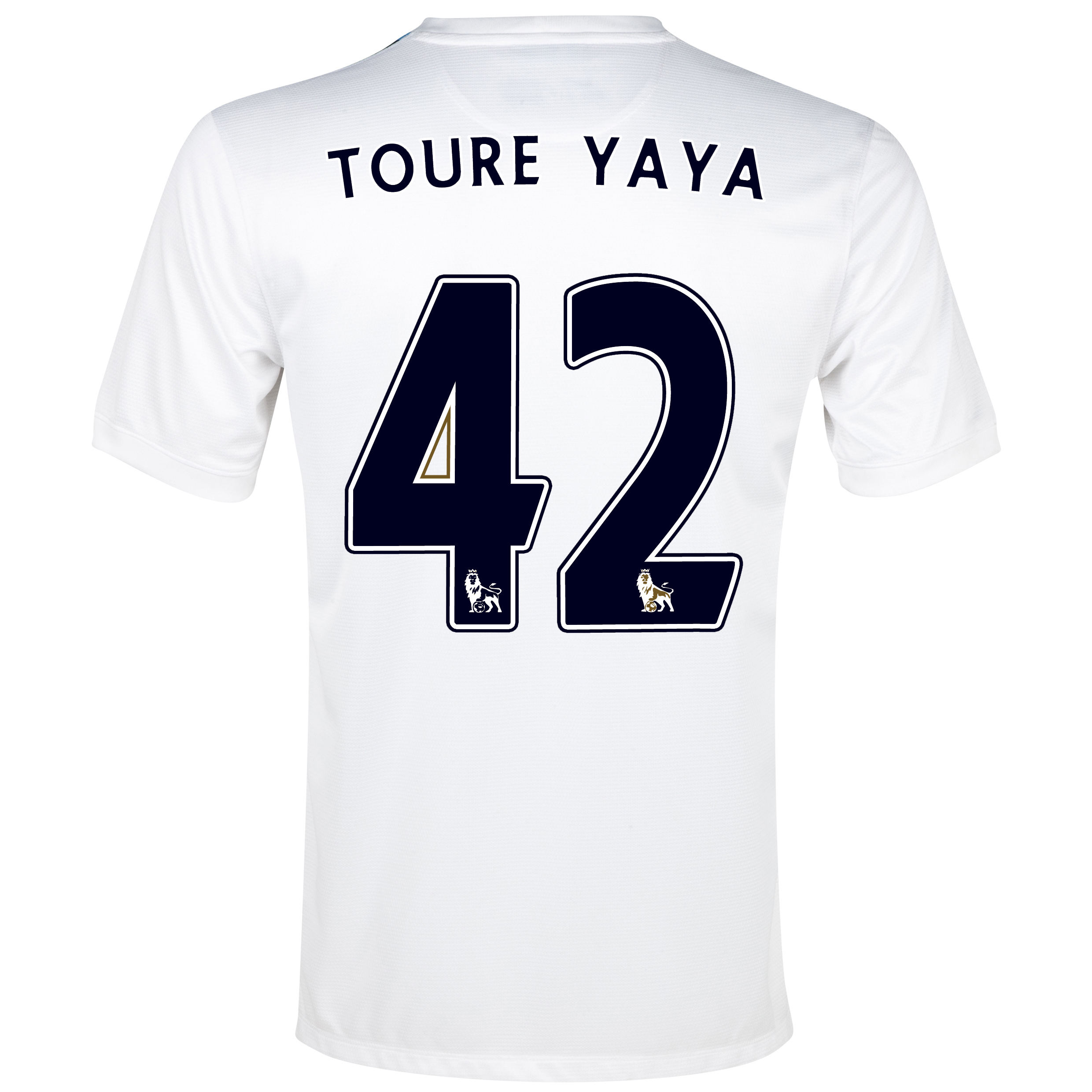 Manchester City Cup Away Shirt 2013/14  - Junior White with Toure Yaya 42 printing