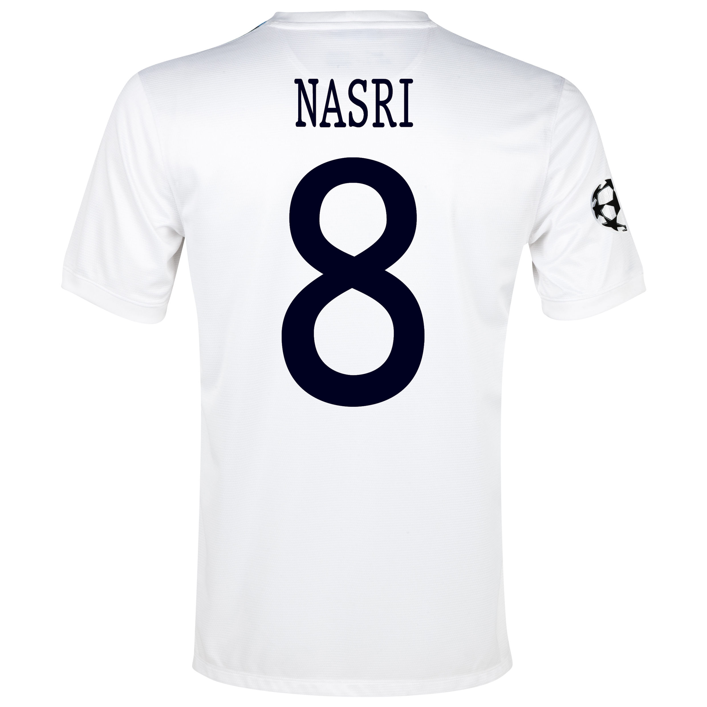 Manchester City UEFA Champions League Cup Away Shirt 2013/14 White with Nasri 8 printing