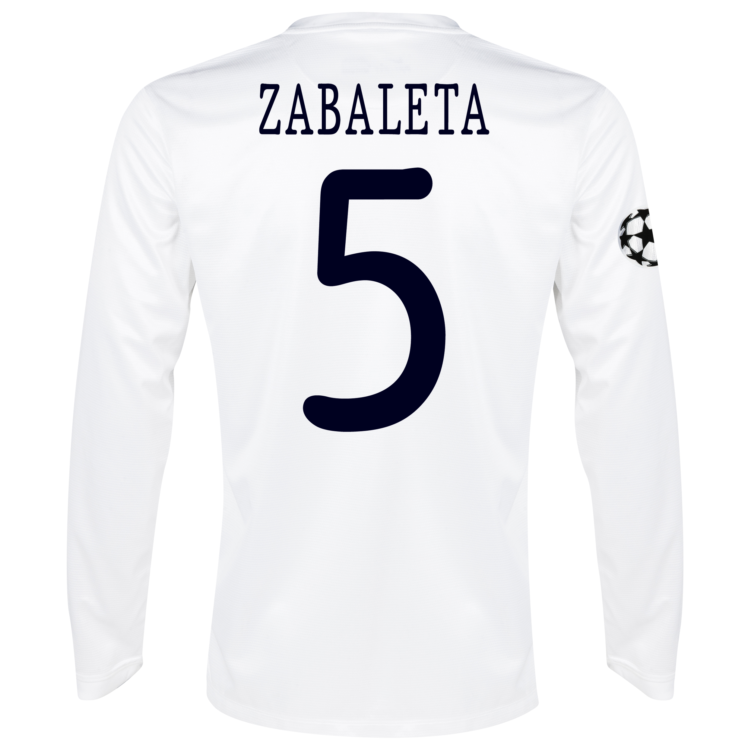 Manchester City UEFA Champions League Cup Away Shirt 2013/14 - Long Sleeved White with Zabaleta 5 printing