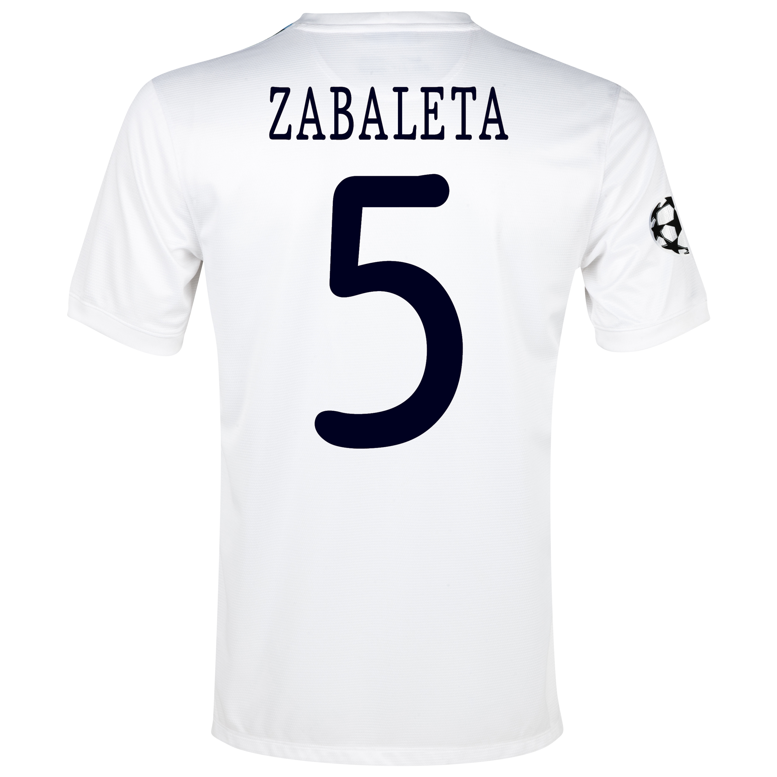 Manchester City UEFA Champions League Cup Away Shirt 2013/14  - Junior White with Zabaleta 5 printing