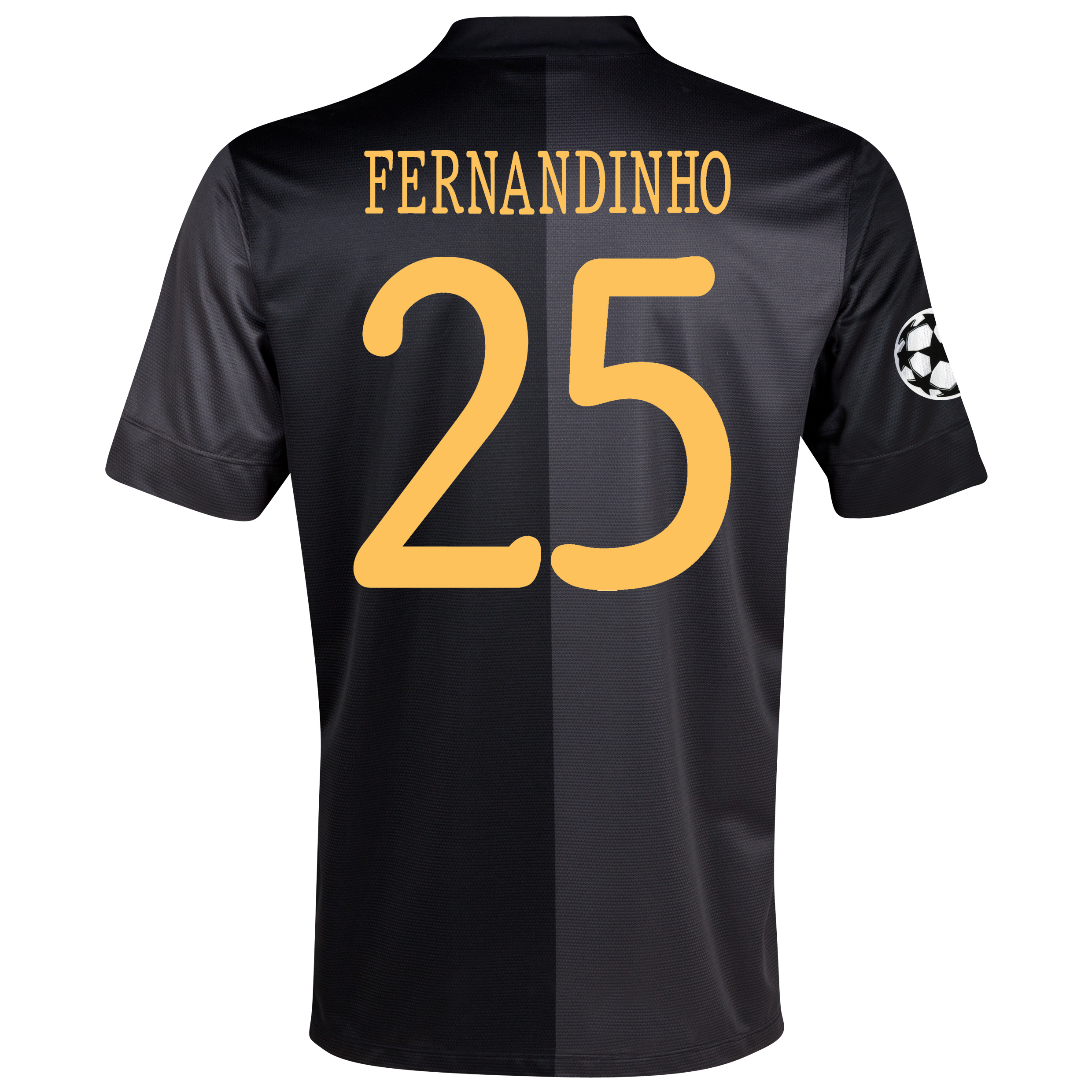 Manchester City UEFA Champions League Away Shirt 2013/14 with Fernandinho 25 printing