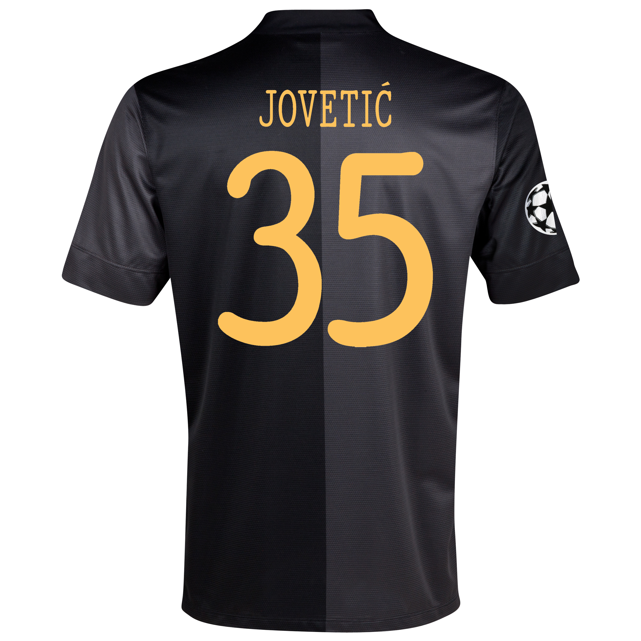 Manchester City UEFA Champions League Away Shirt 2013/14 with Jovetic 35 printing