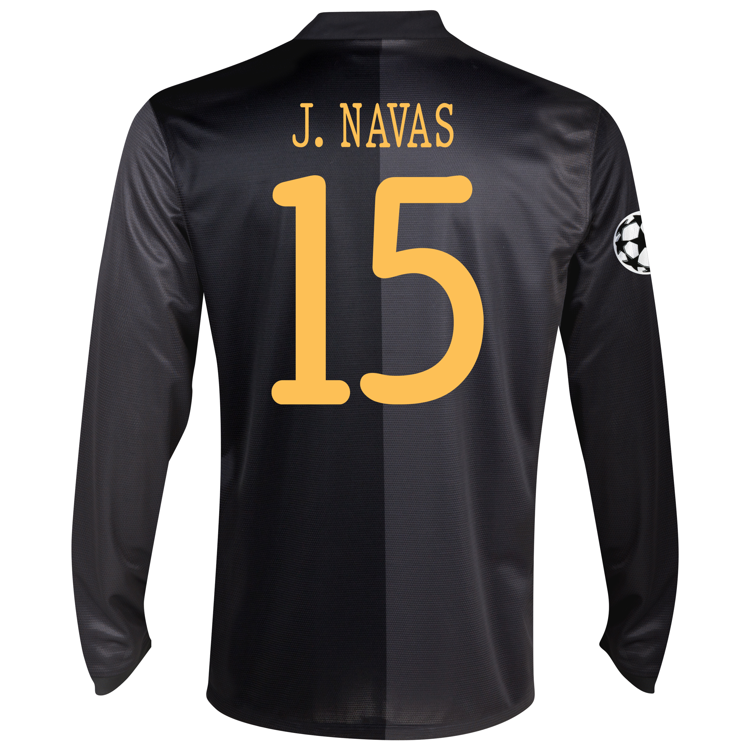 Manchester City UEFA Champions League Away Shirt 2013/14 - Long Sleeved with J.Navas 15 printing