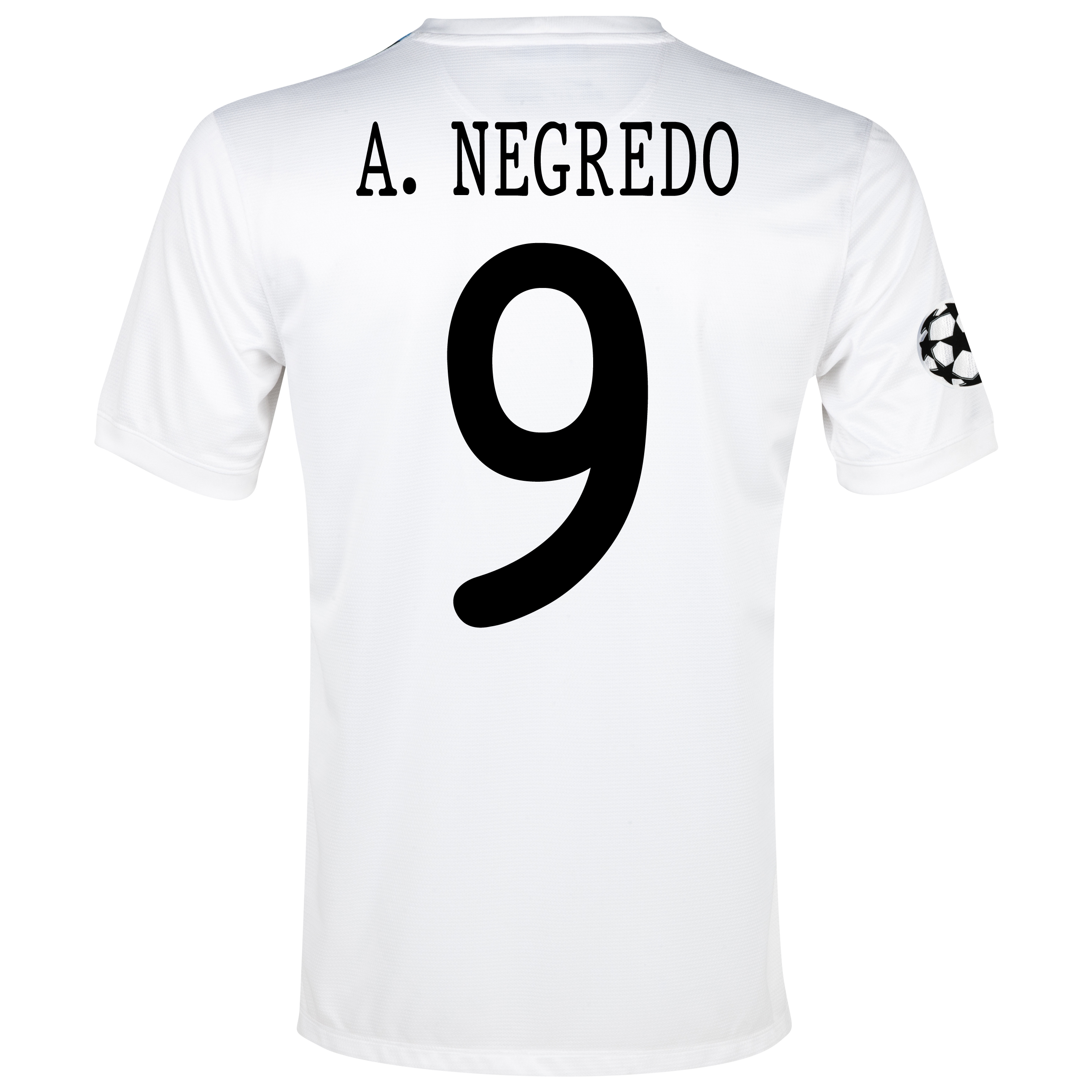 Manchester City UEFA Champions League Cup Away Shirt 2013/14  - Junior White with A.Negredo 9 printing