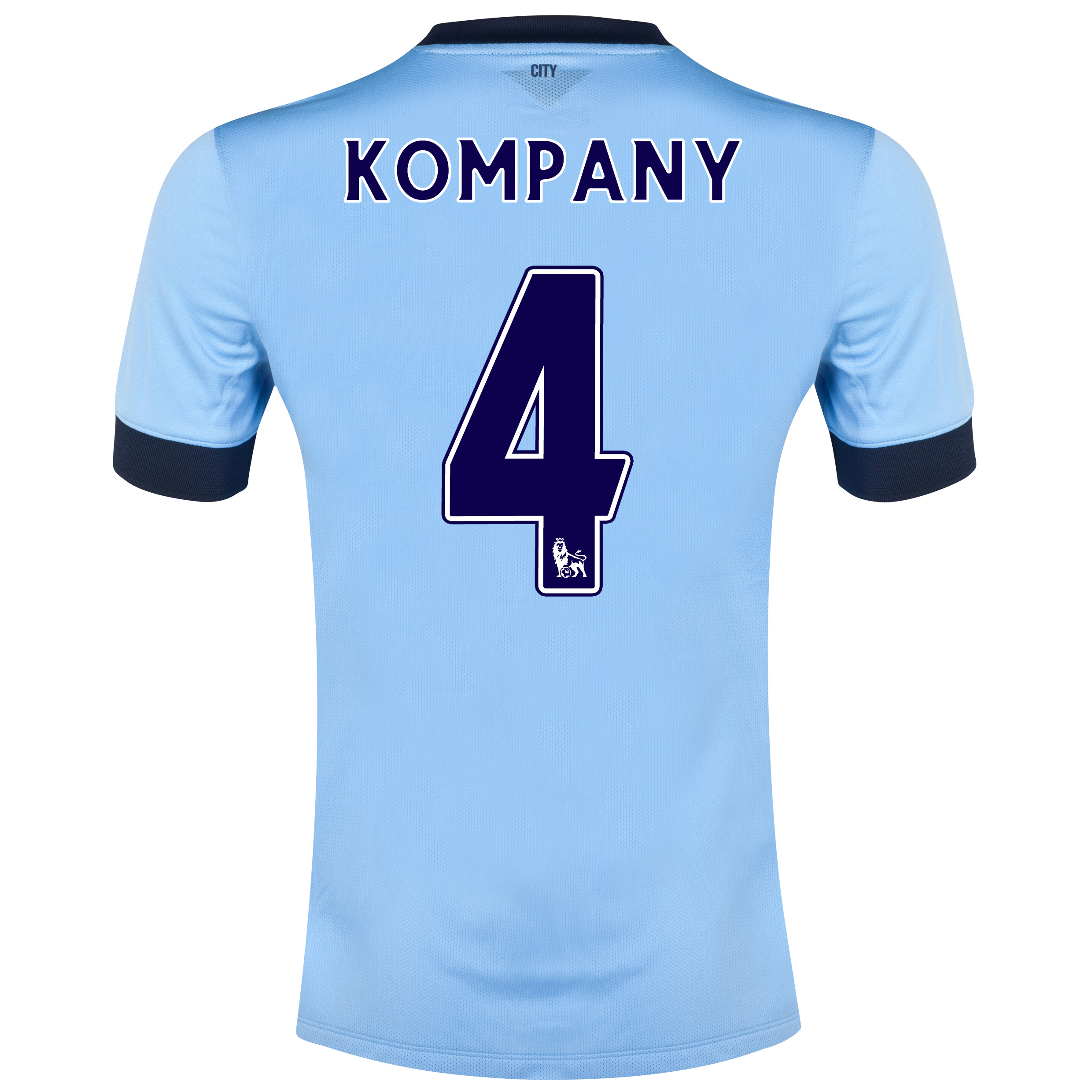 Manchester City Home Shirt 2014/15 Sky Blue with Kompany 4 printing