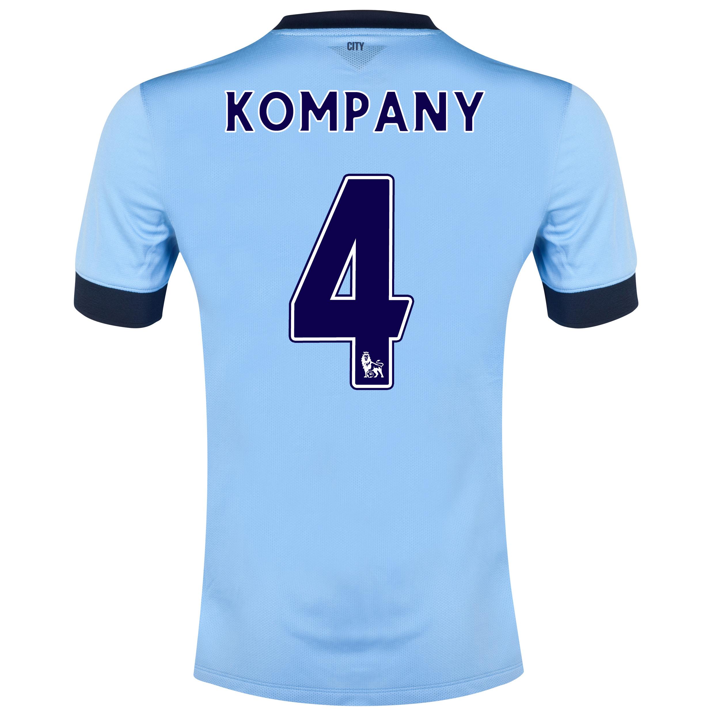 Manchester City Home Shirt 2014/15 Sky Blue with Kompany 4 printing
