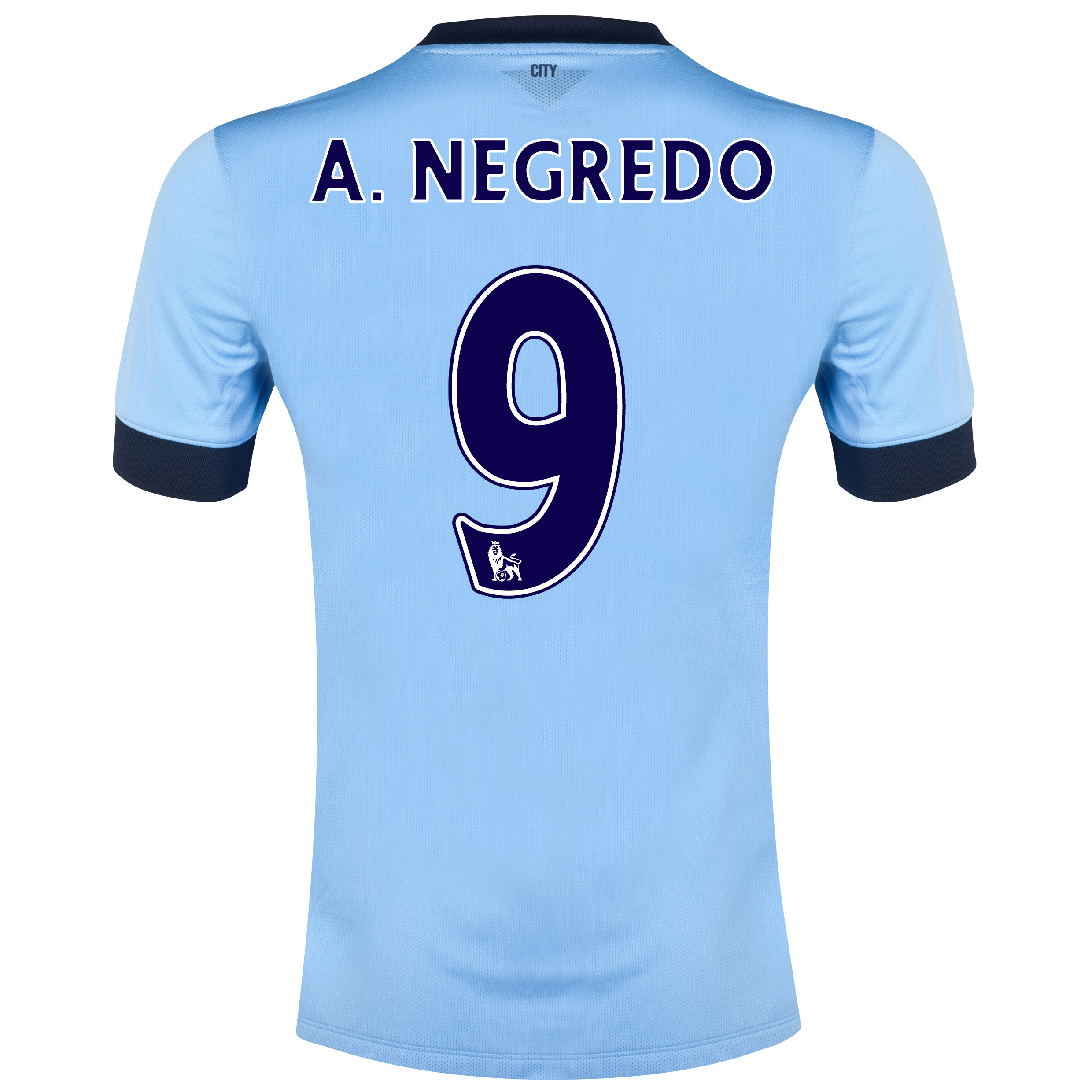 Manchester City Home Shirt 2014/15 Sky Blue with A.Negredo 9 printing