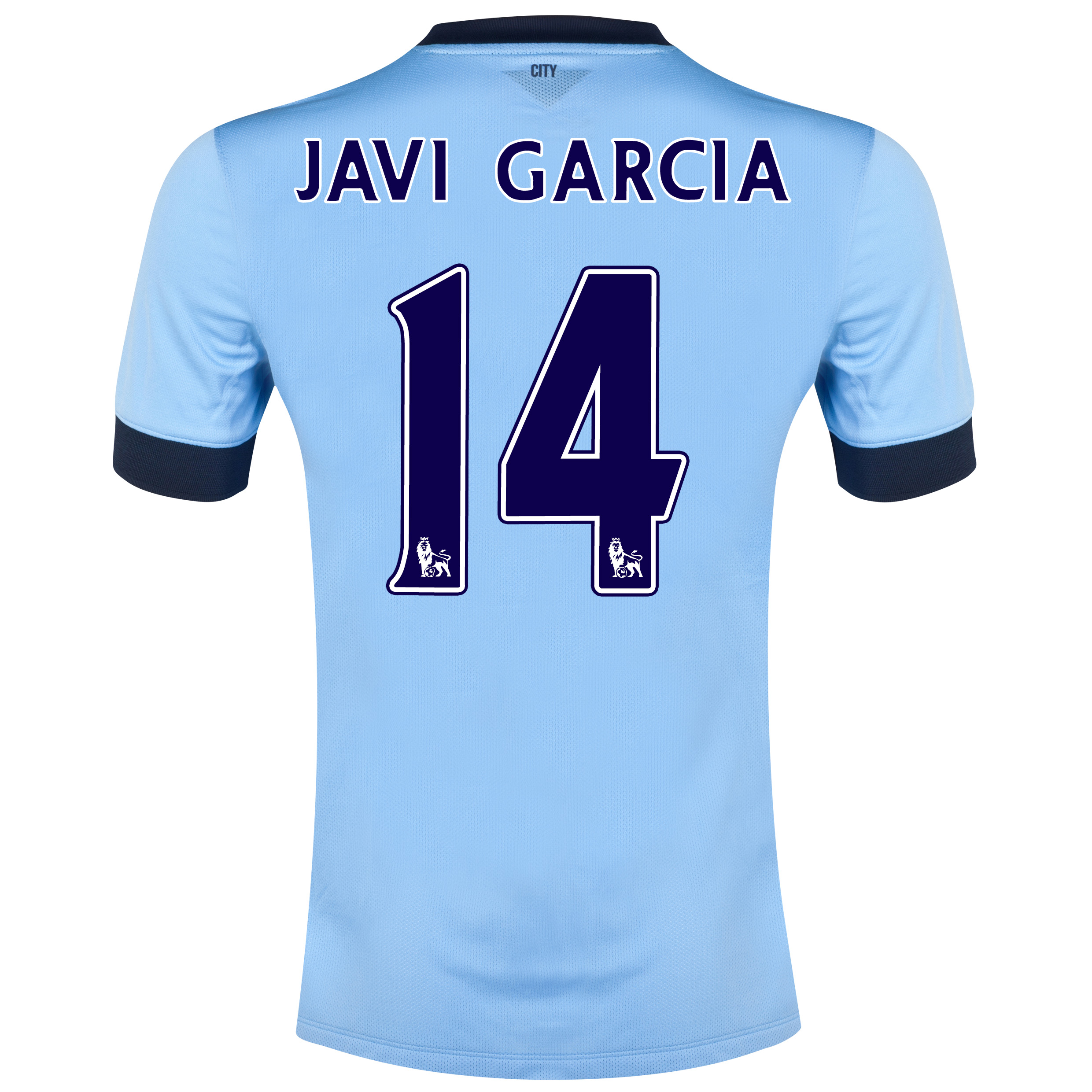 Manchester City Home Shirt 2014/15 Sky Blue with Javi Garcia 14 printing
