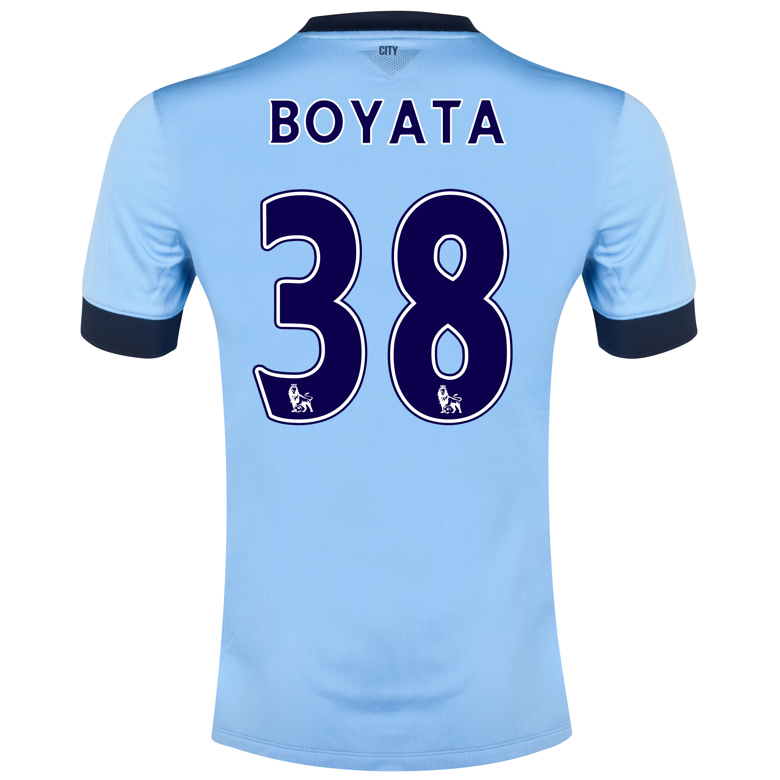 Manchester City Home Shirt 2014/15 Sky Blue with Boyata 38 printing