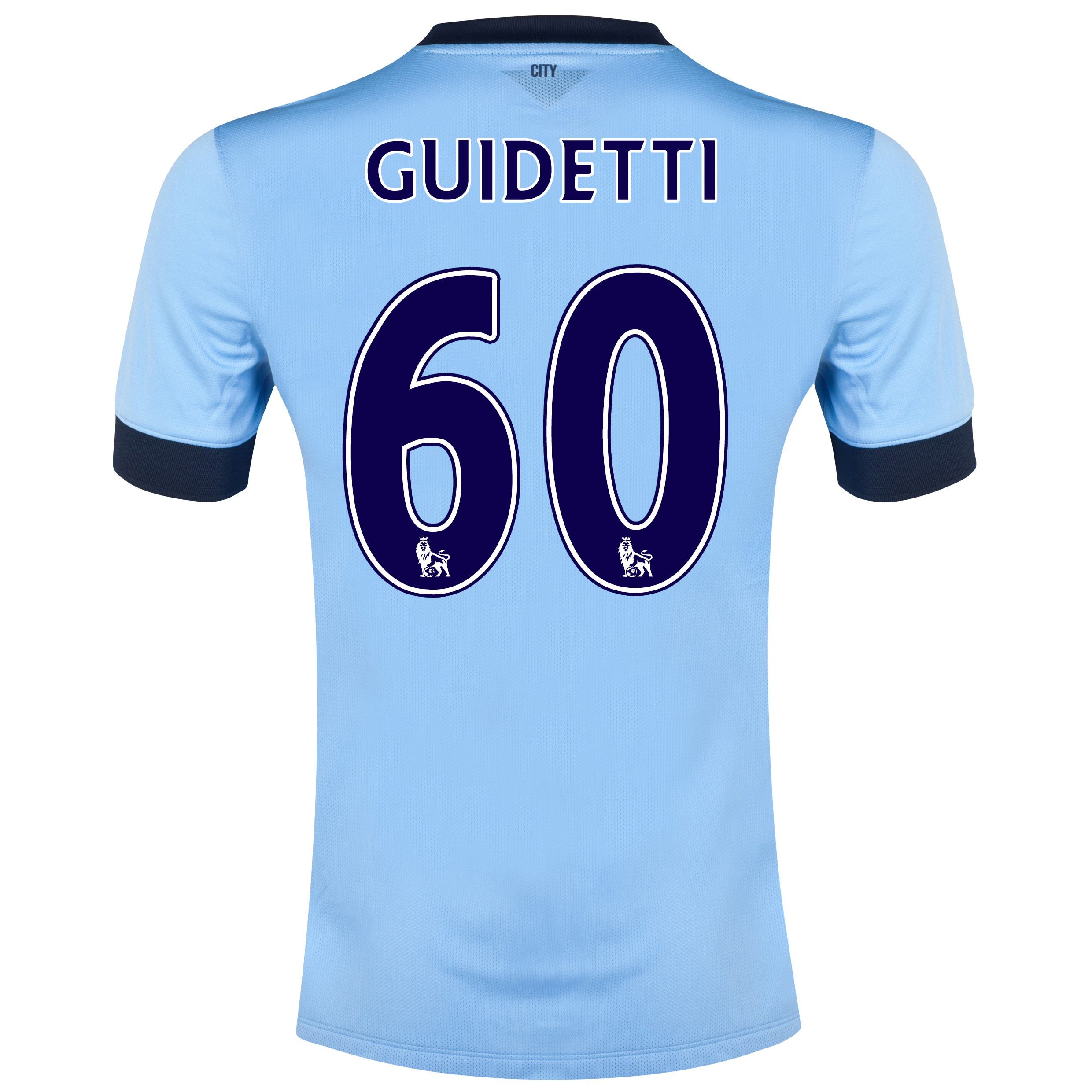 Manchester City Home Shirt 2014/15 Sky Blue with Guidetti 60 printing