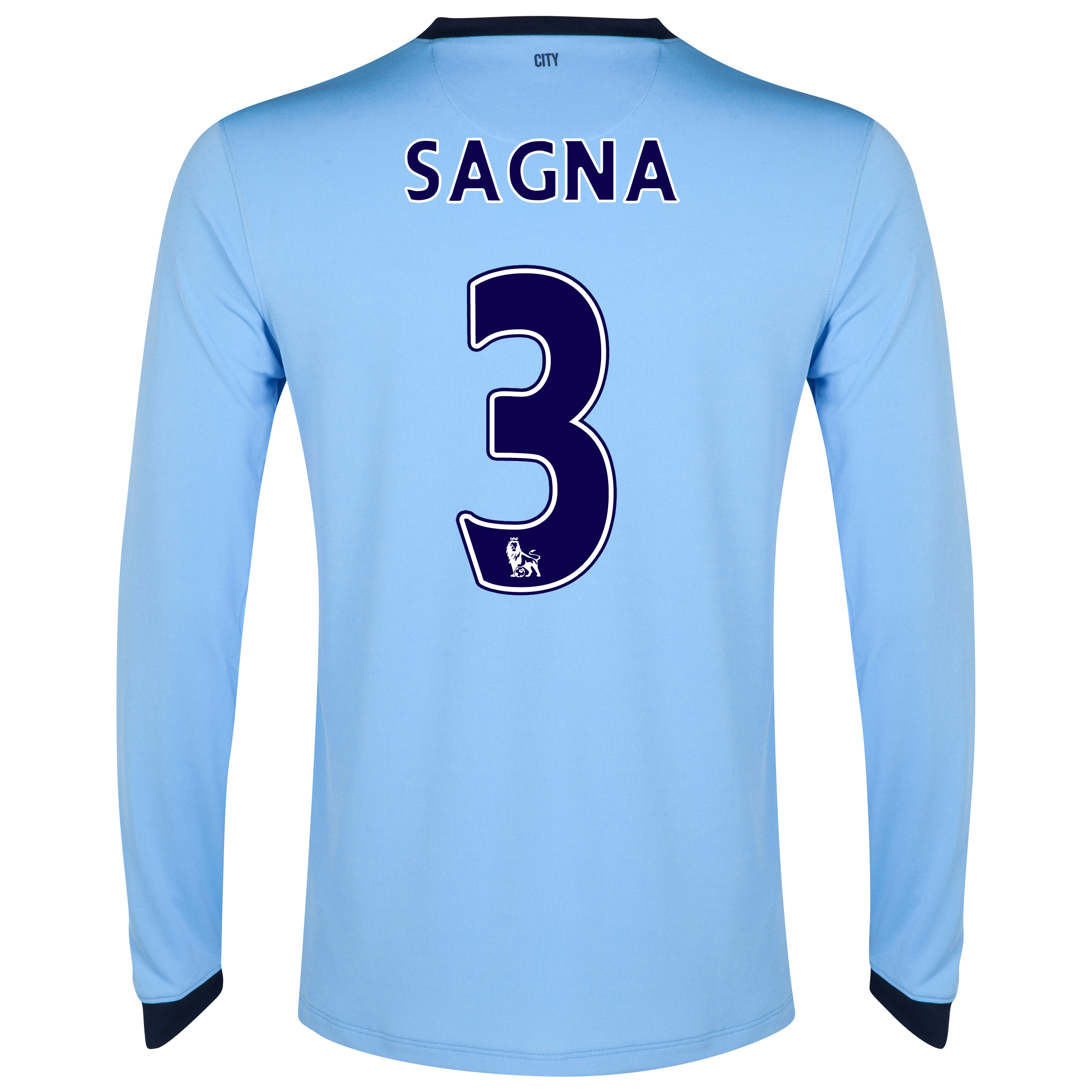 Manchester City Home Shirt 2014/15 - Long Sleeve Sky Blue with Sagna 3 printing