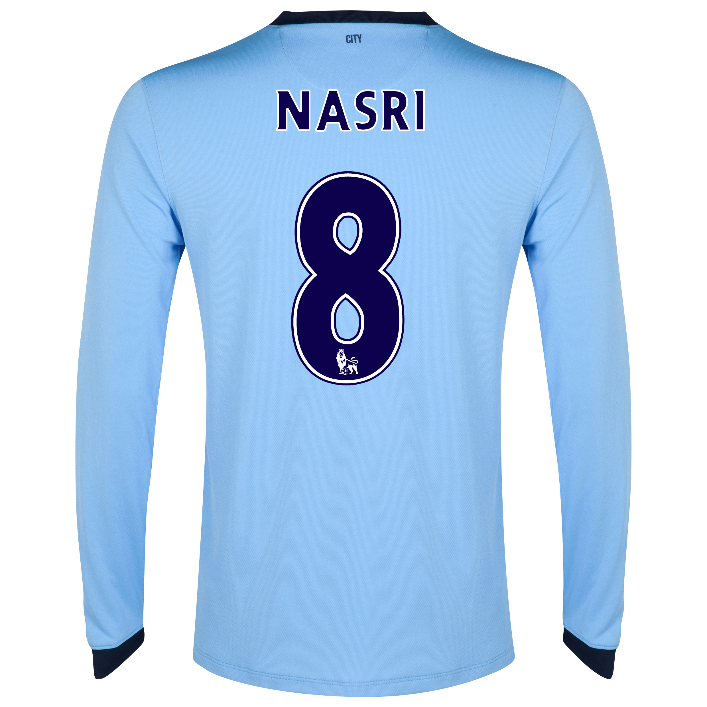 Manchester City Home Shirt 2014/15 - Long Sleeve Sky Blue with Nasri 8 printing