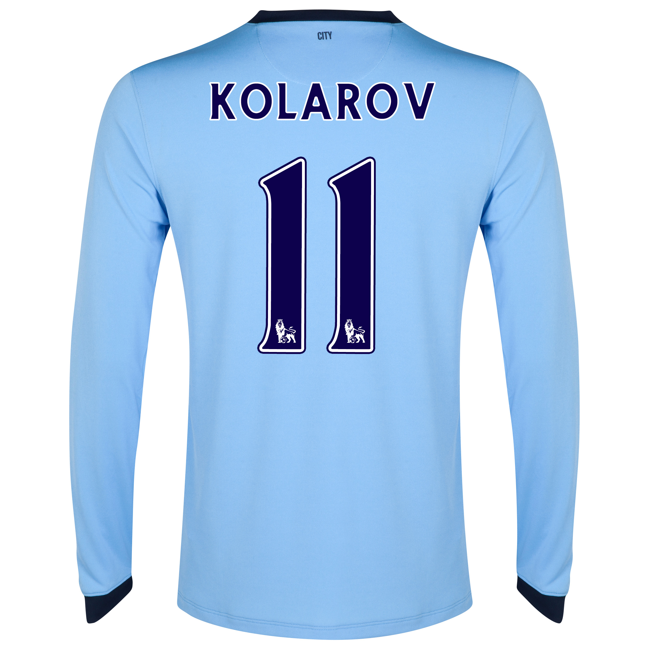 Manchester City Home Shirt 2014/15 - Long Sleeve Sky Blue with Kolarov 11 printing