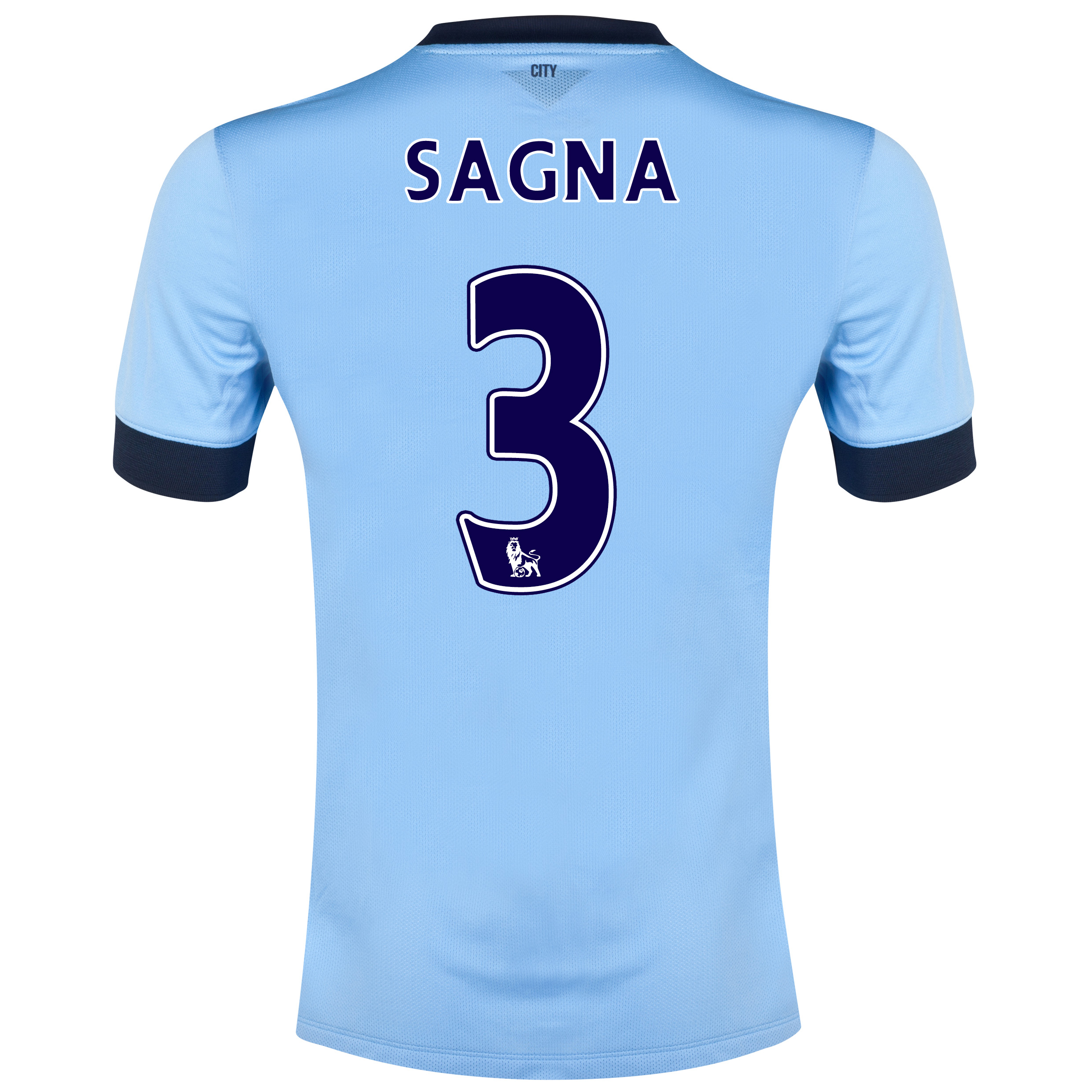 Manchester City Home Shirt 2014/15 - Kids Sky Blue with Sagna 3 printing