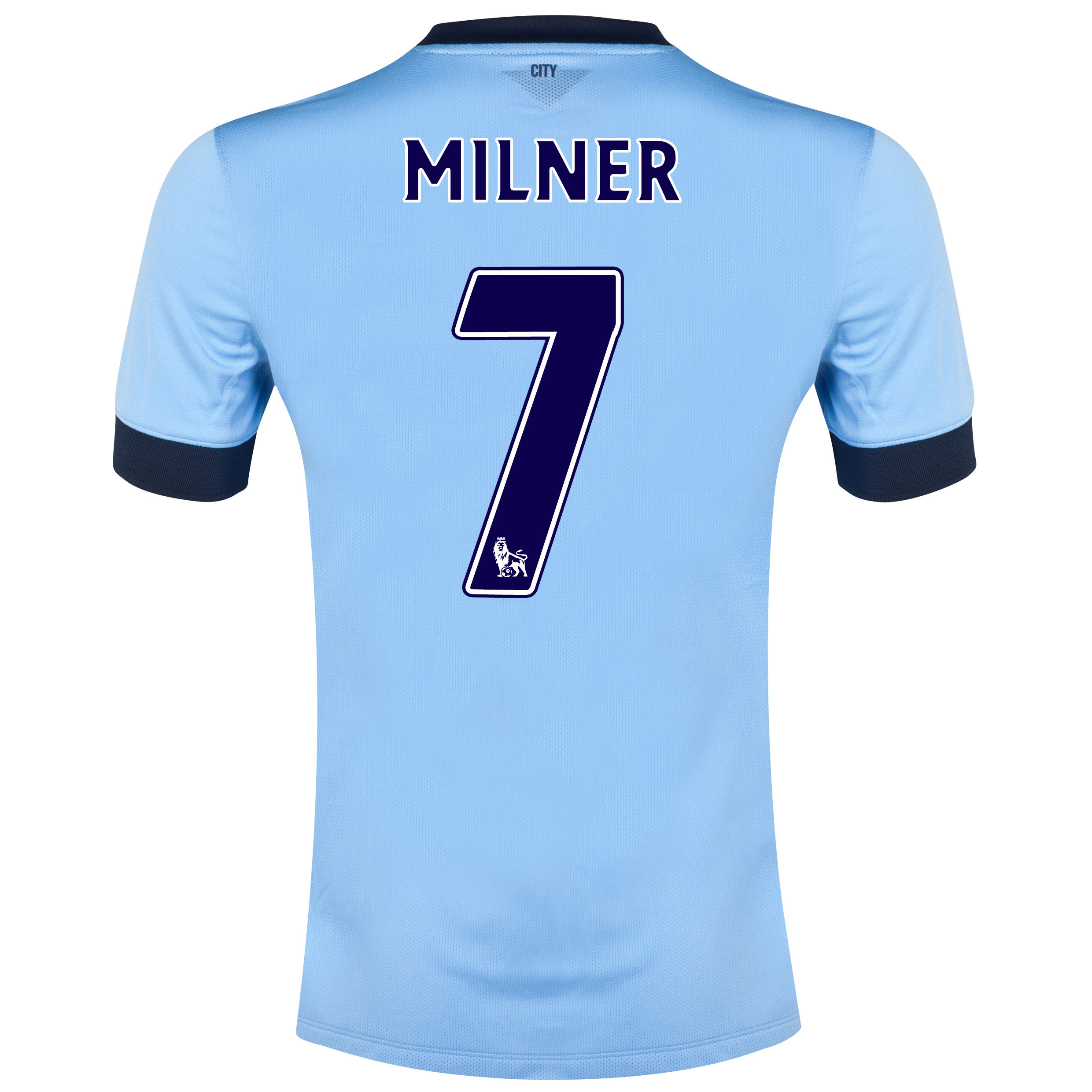 Manchester City Home Shirt 2014/15 - Kids Sky Blue with Milner 7 printing