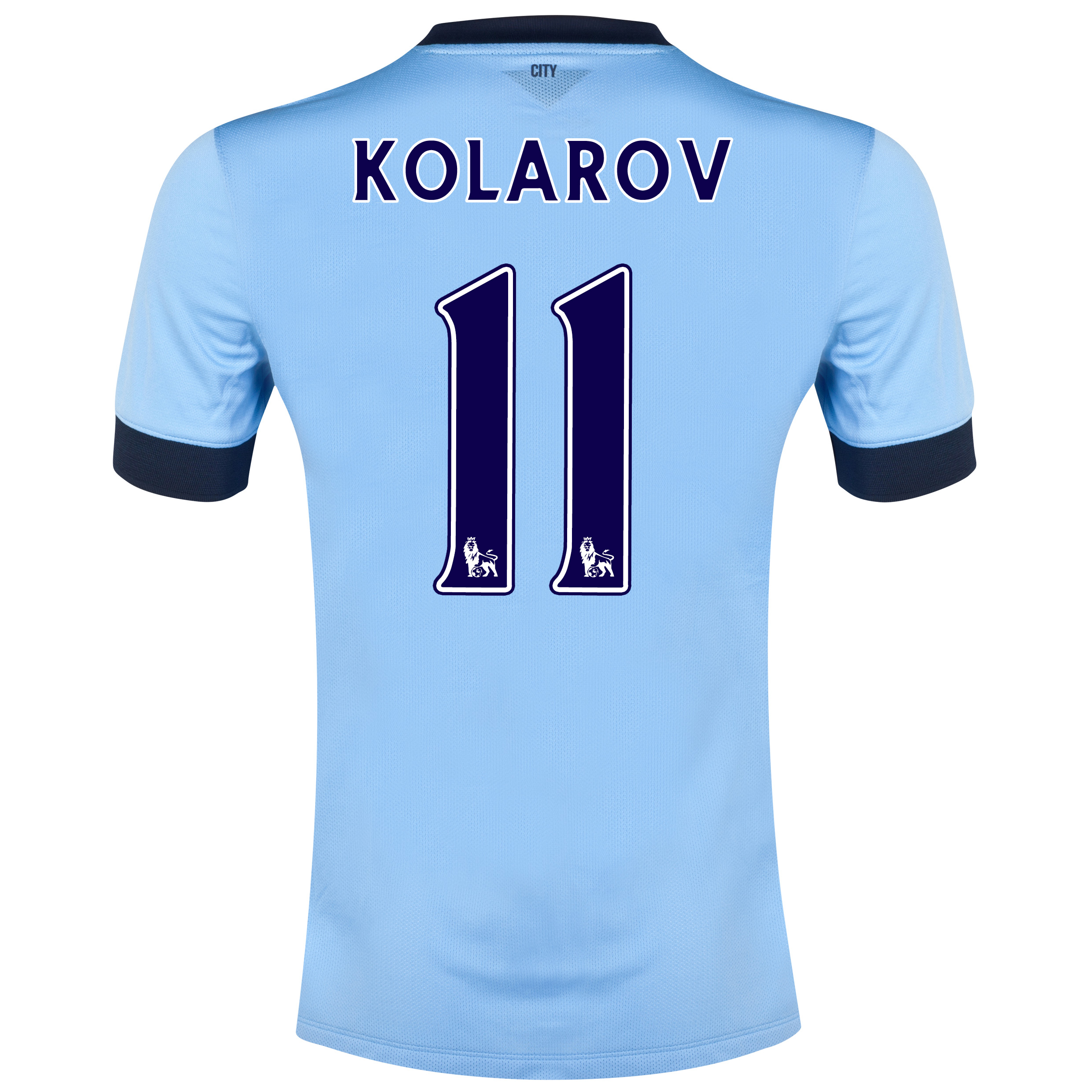 Manchester City Home Shirt 2014/15 - Kids Sky Blue with Kolarov 11 printing