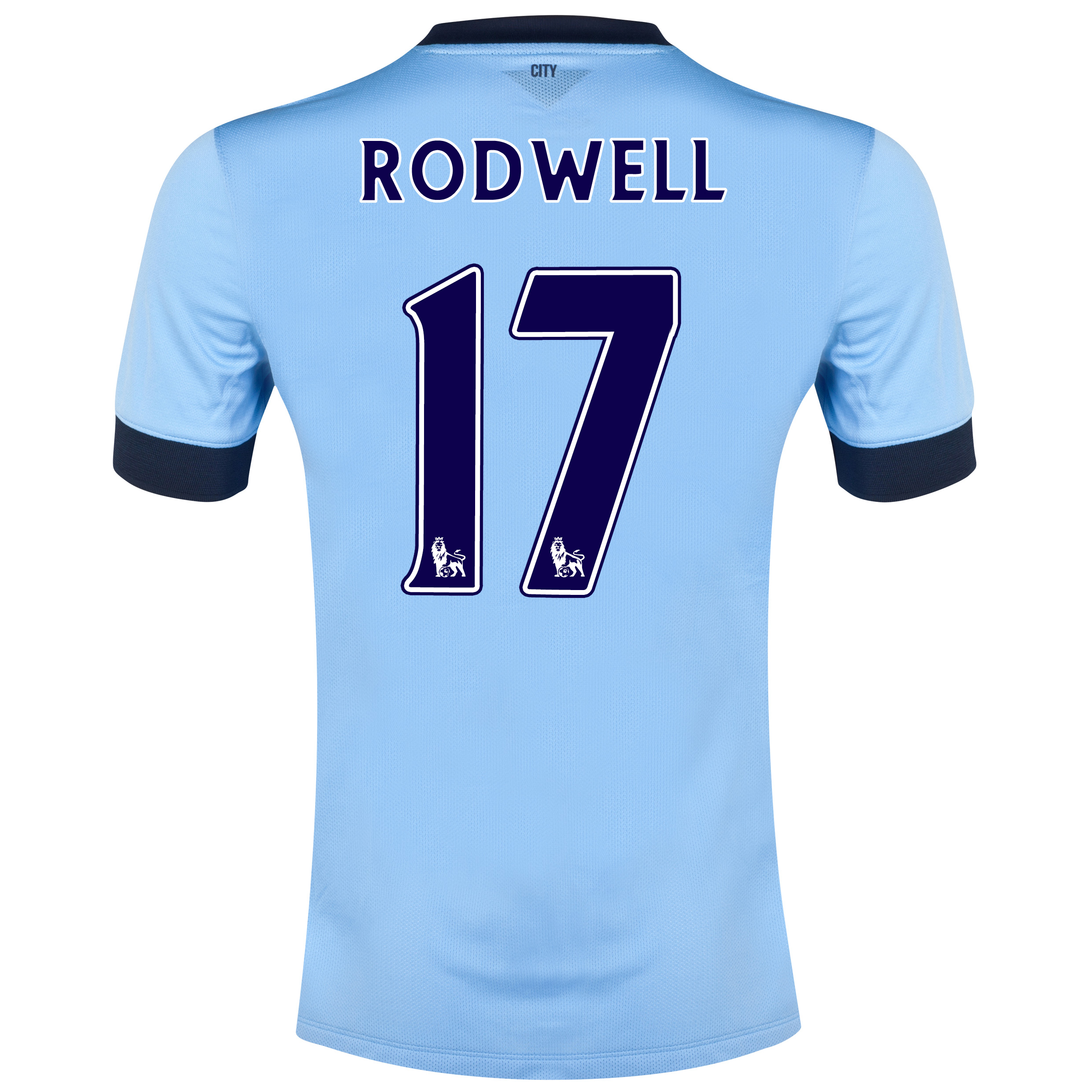Manchester City Home Shirt 2014/15 - Kids Sky Blue with Rodwell 17 printing