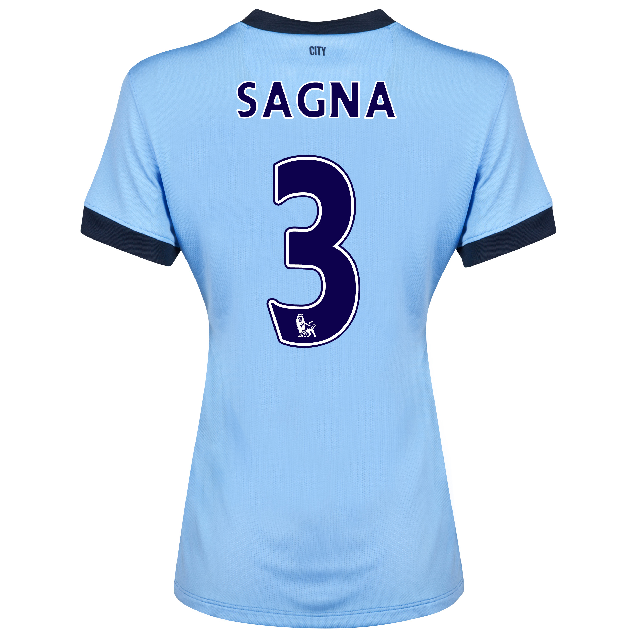Manchester City Home Shirt 2014/15 - Womens Sky Blue with Sagna 3 printing