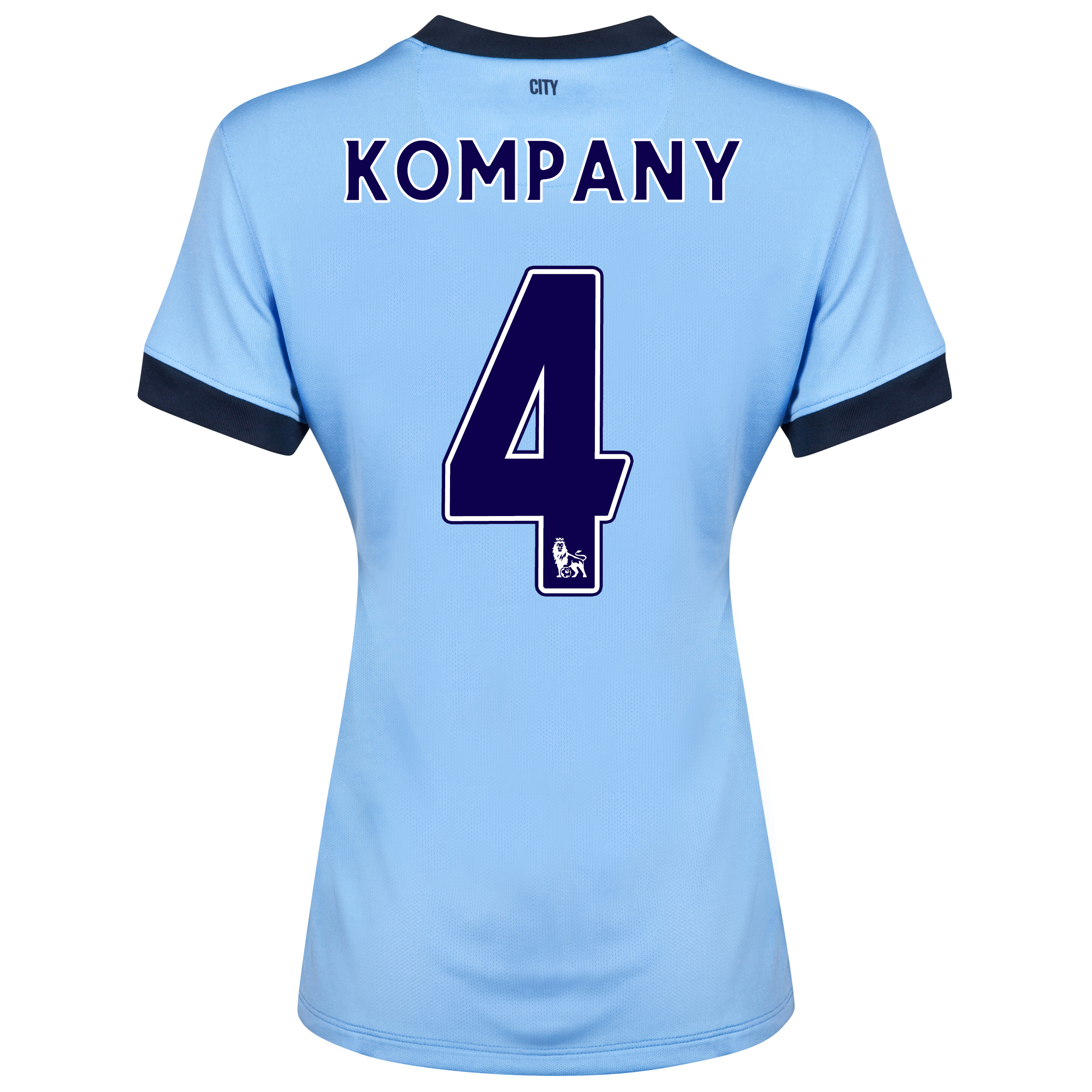 Manchester City Home Shirt 2014/15 - Womens Sky Blue with Kompany 4 printing
