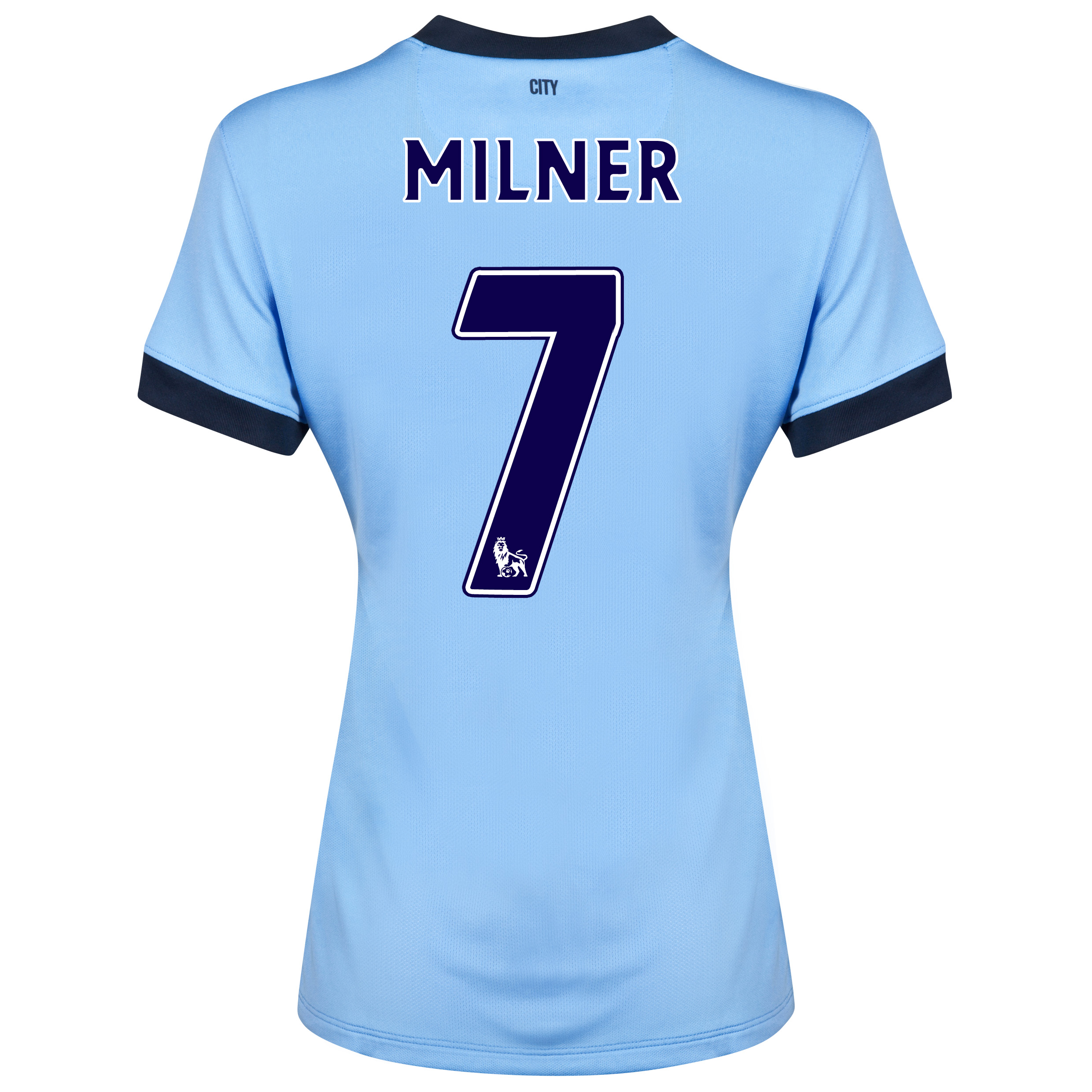 Manchester City Home Shirt 2014/15 - Womens Sky Blue with Milner 7 printing