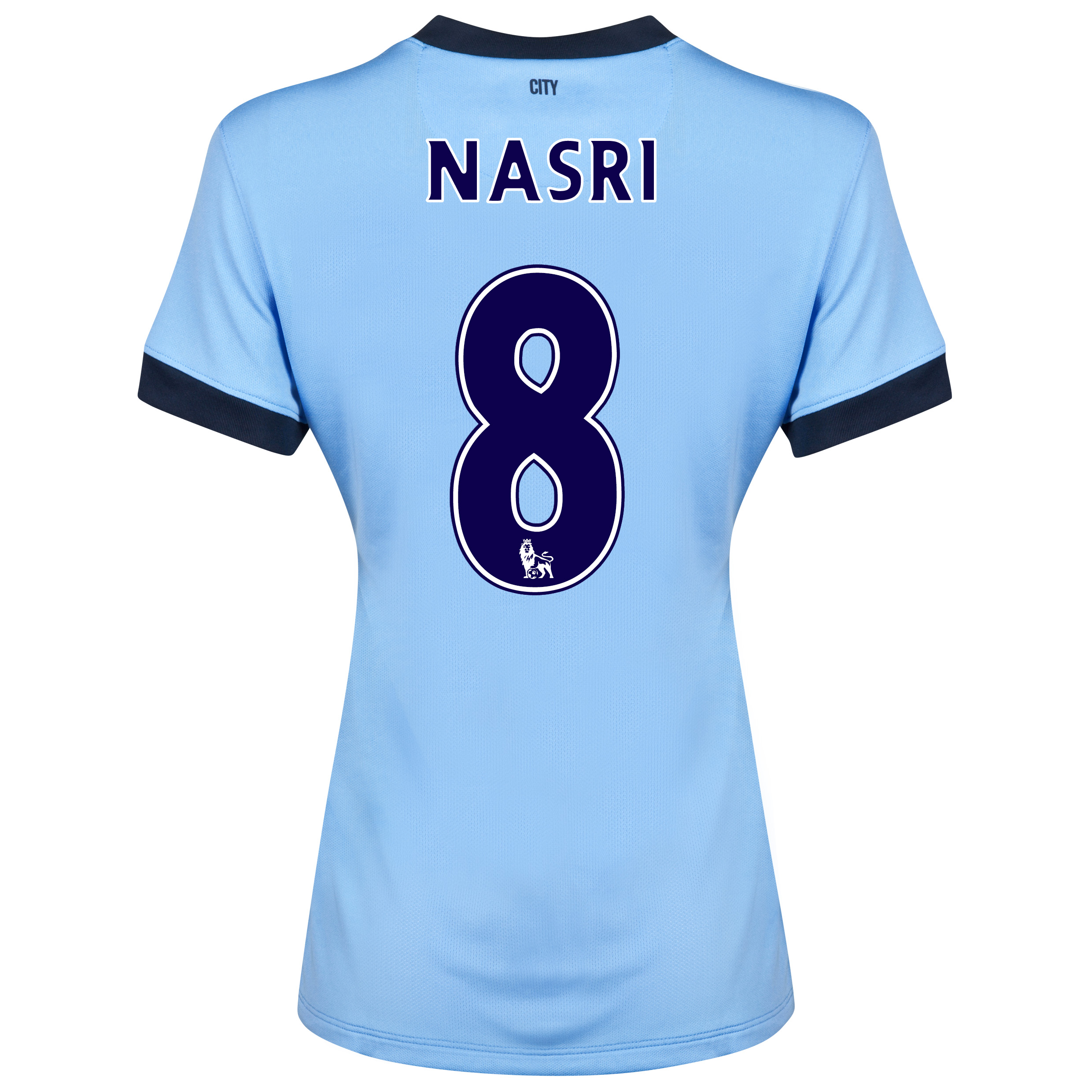 Manchester City Home Shirt 2014/15 - Womens Sky Blue with Nasri 8 printing