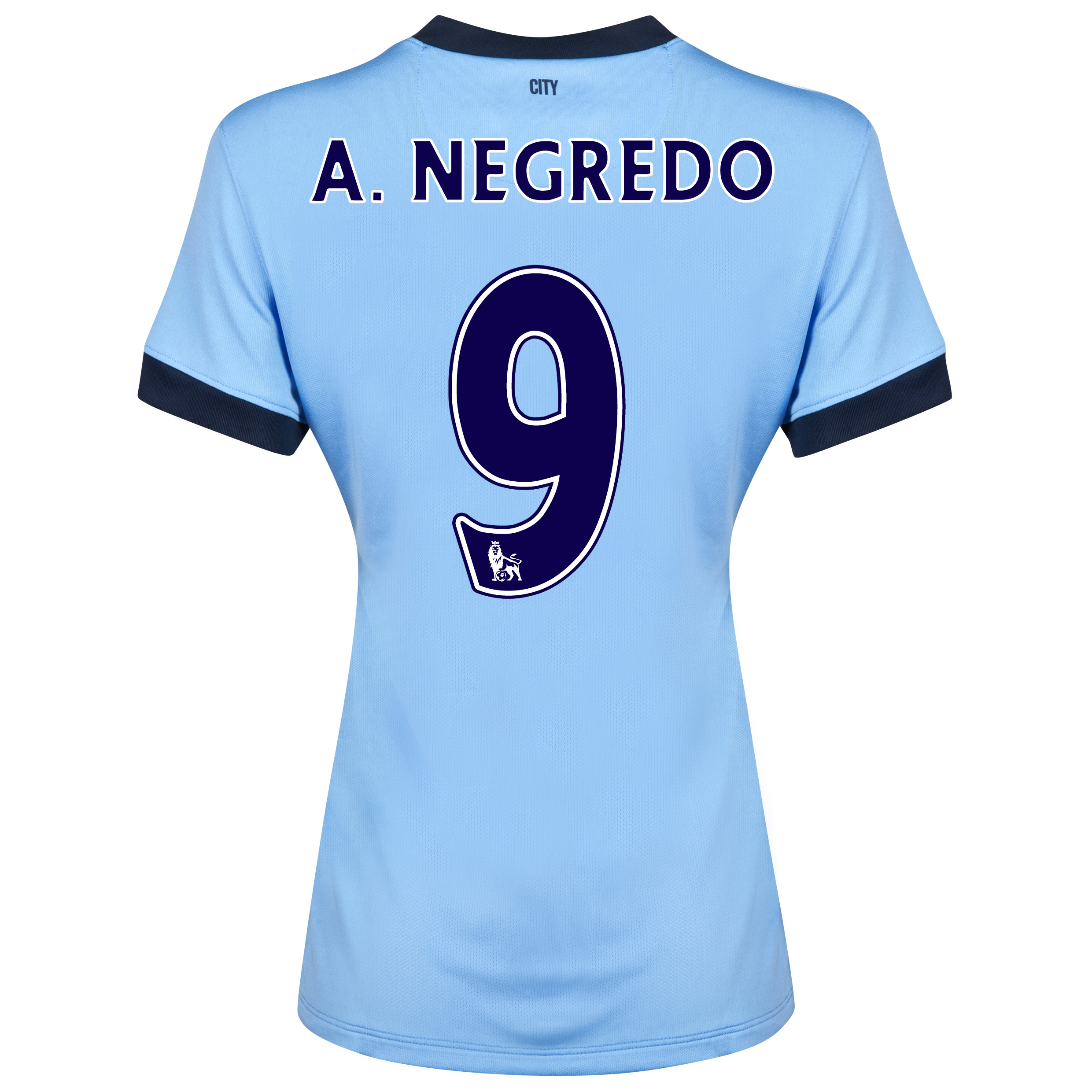 Manchester City Home Shirt 2014/15 - Womens Sky Blue with A.Negredo 9 printing