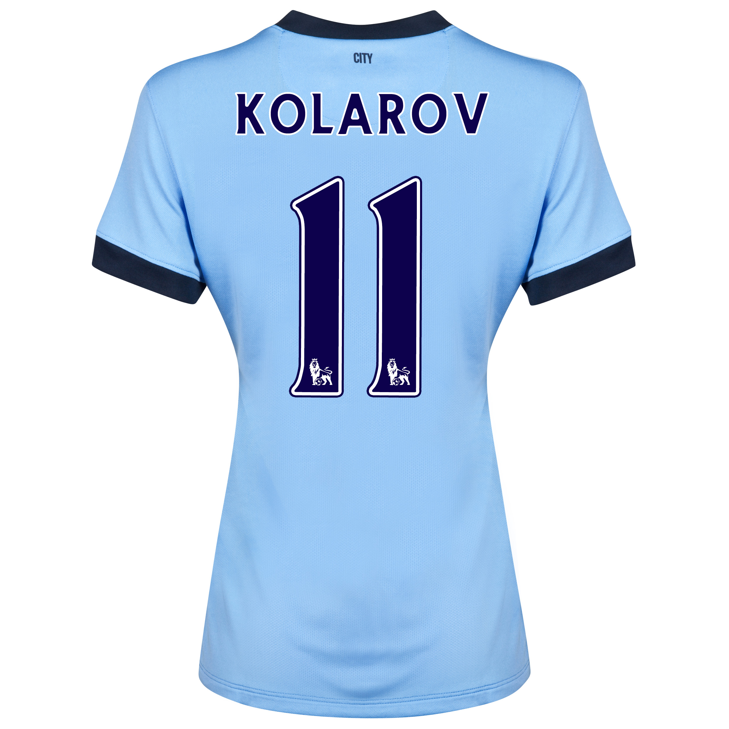Manchester City Home Shirt 2014/15 - Womens Sky Blue with Kolarov 11 printing