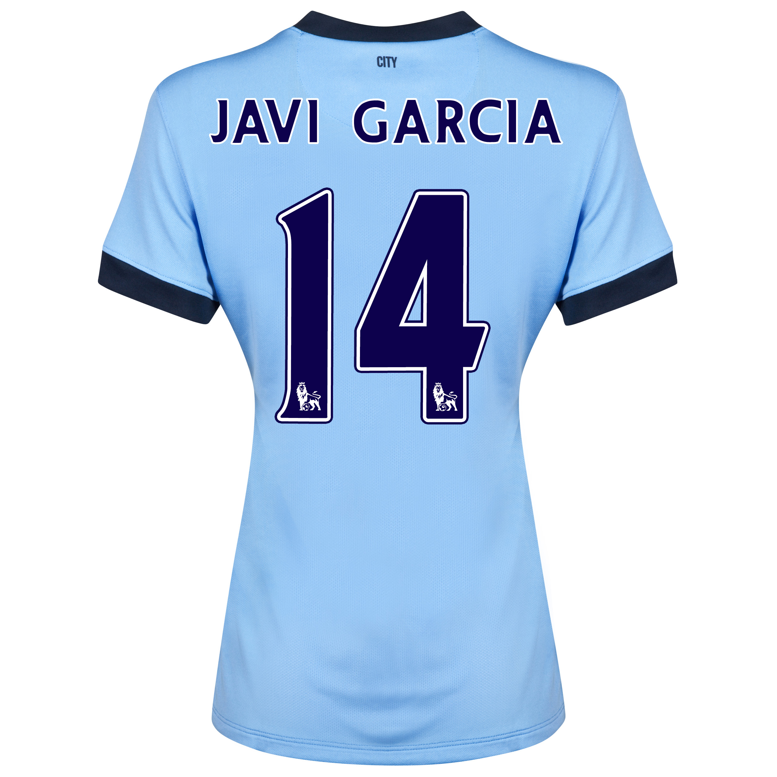 Manchester City Home Shirt 2014/15 - Womens Sky Blue with Javi Garcia 14 printing