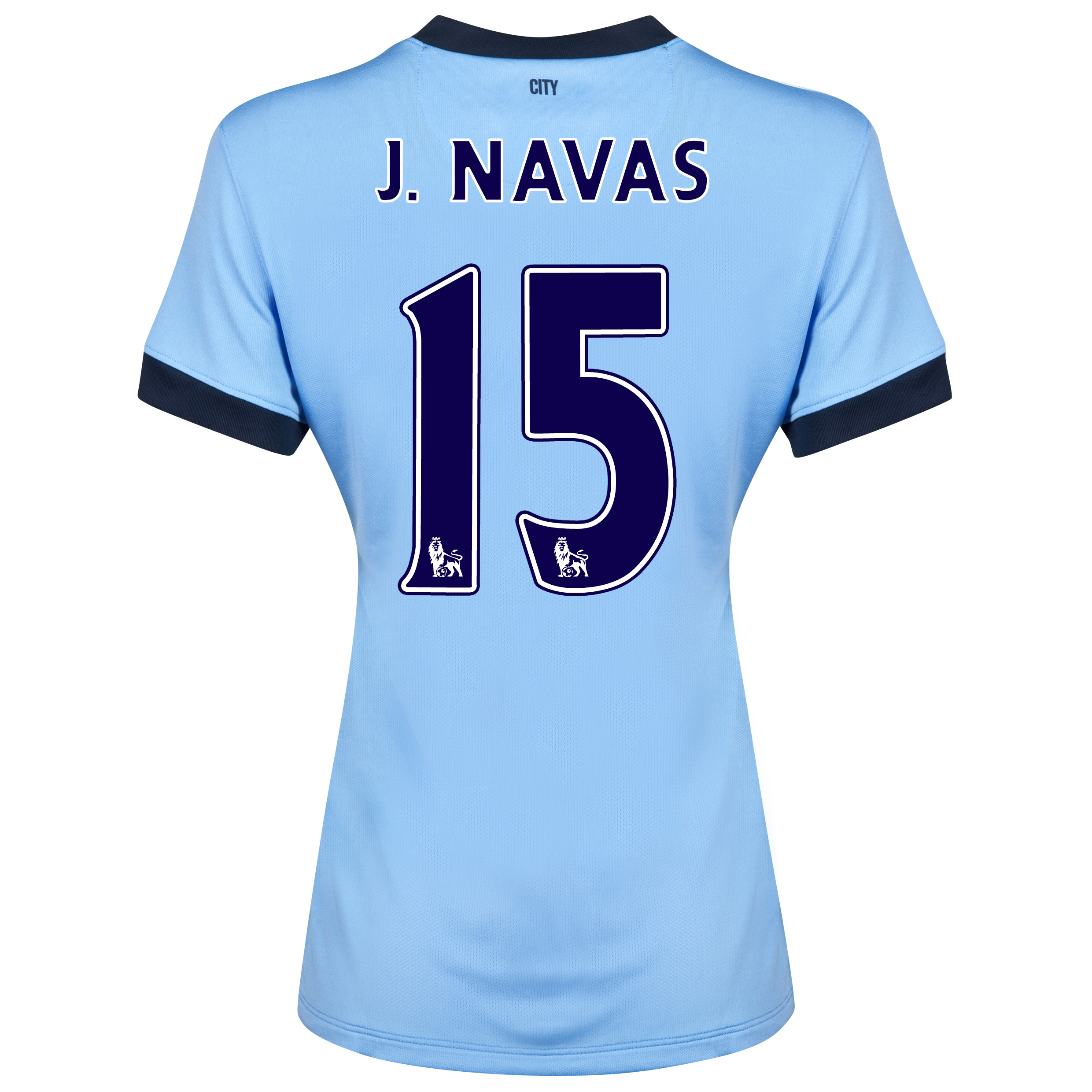 Manchester City Home Shirt 2014/15 - Womens Sky Blue with J.Navas 15 printing