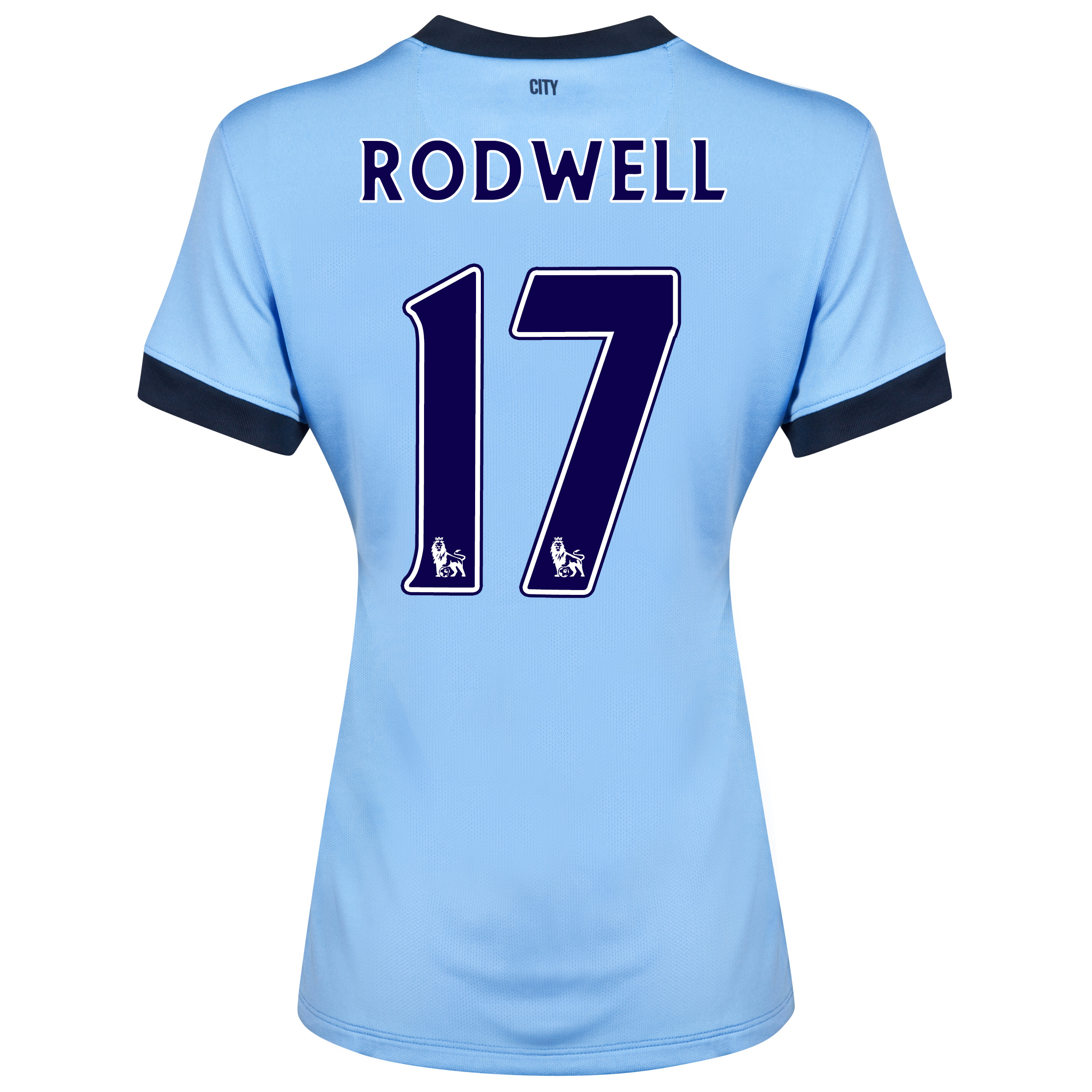 Manchester City Home Shirt 2014/15 - Womens Sky Blue with Rodwell 17 printing