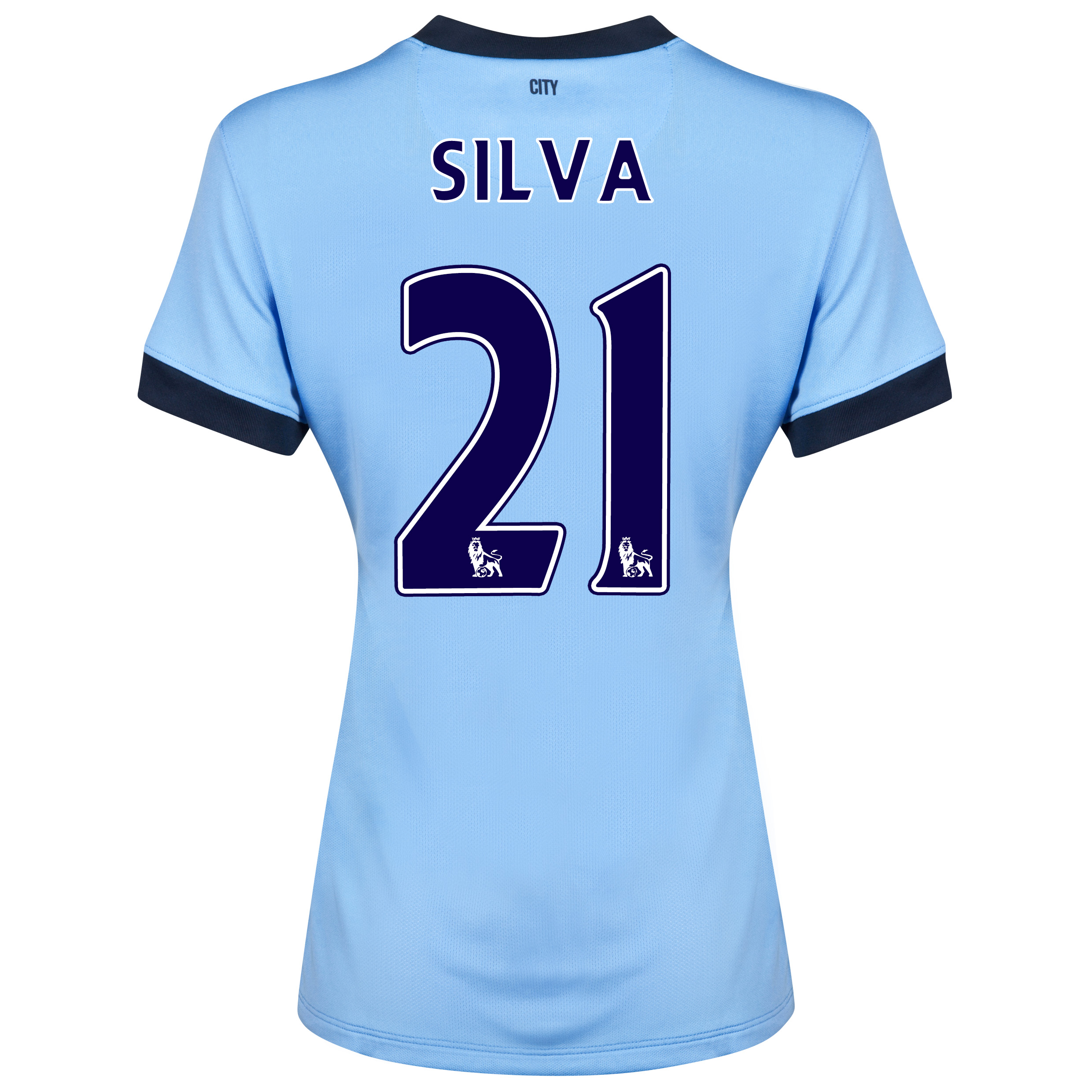 Manchester City Home Shirt 2014/15 - Womens Sky Blue with Silva 21 printing