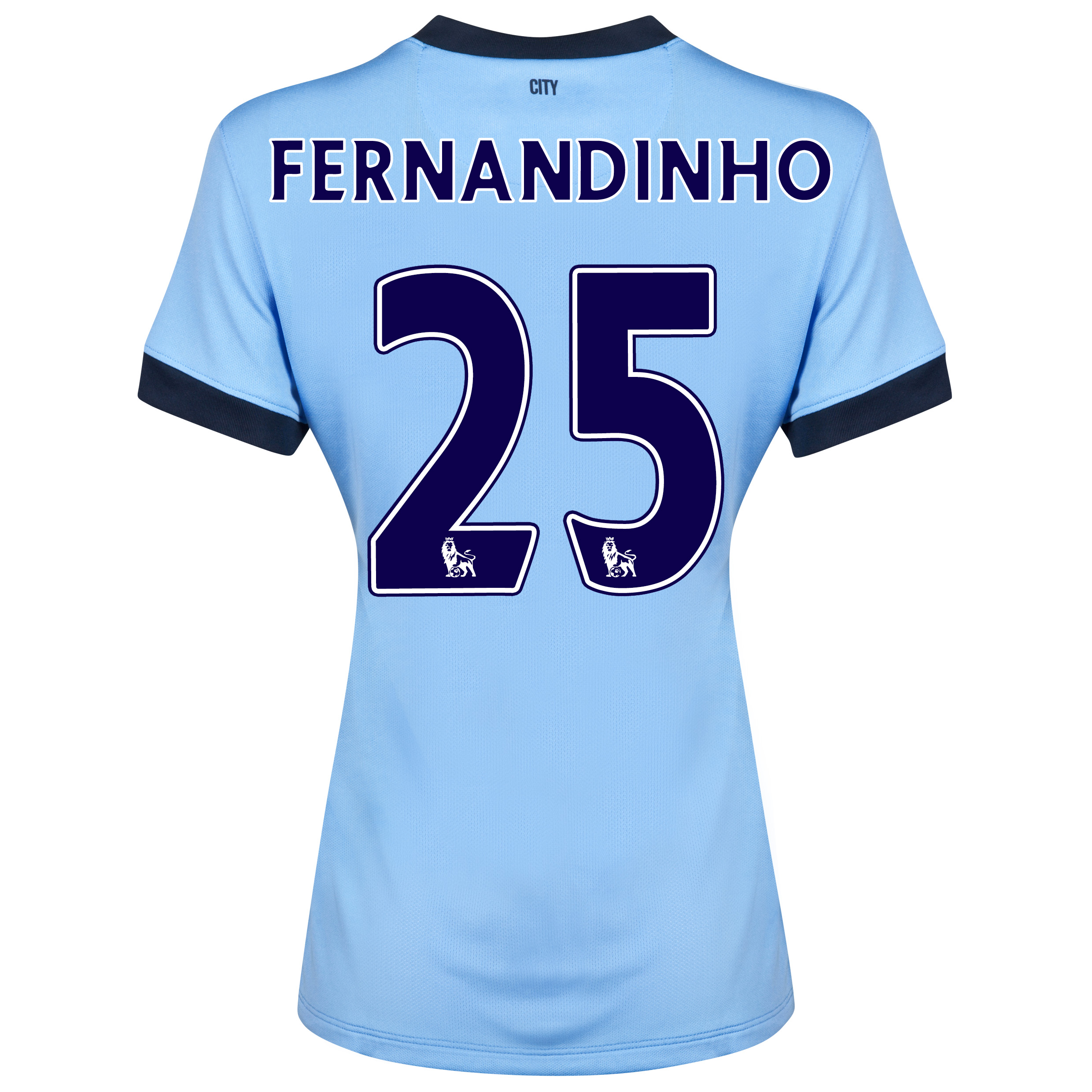 Manchester City Home Shirt 2014/15 - Womens Sky Blue with Fernandinho 25 printing