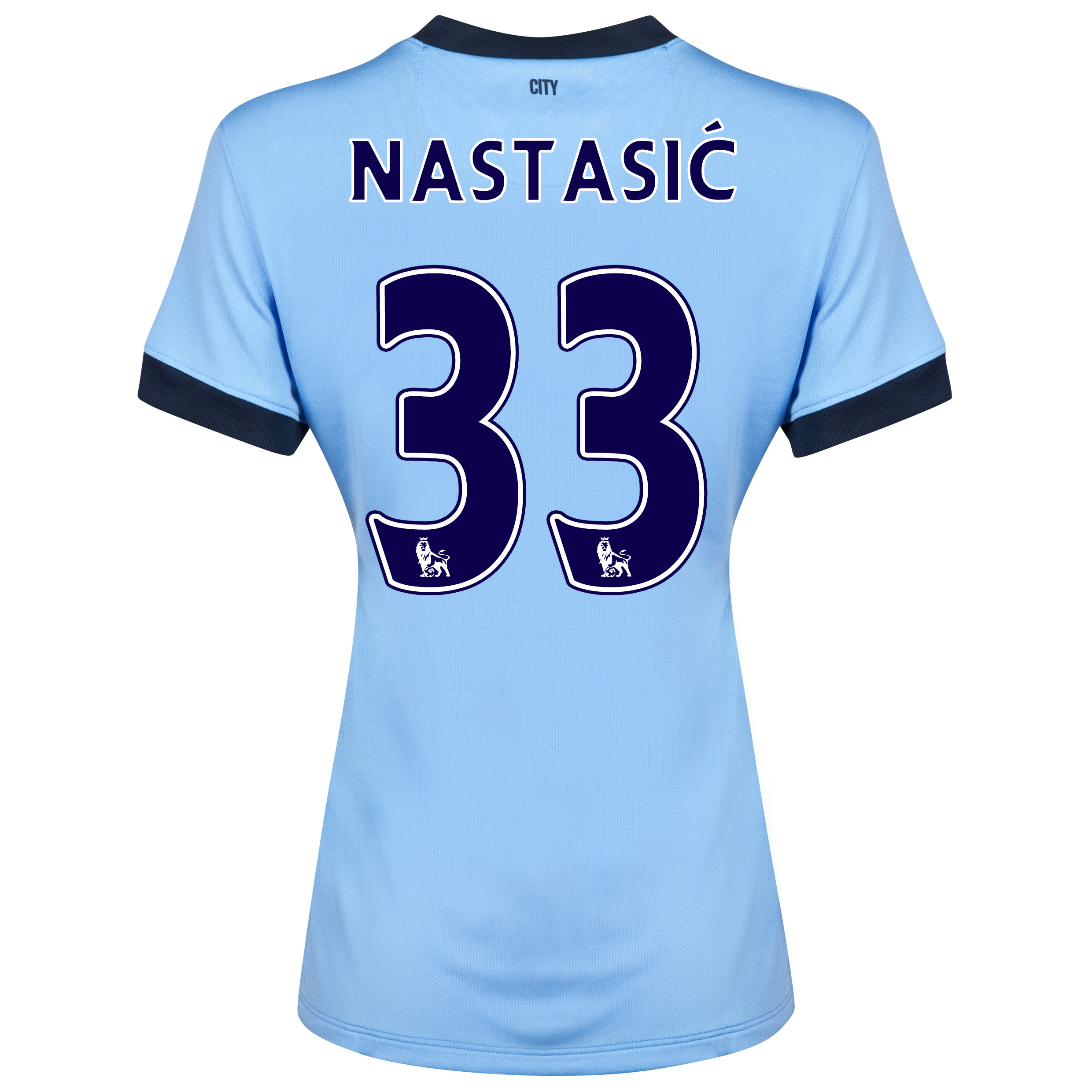 Manchester City Home Shirt 2014/15 - Womens Sky Blue with Nastasic 33 printing