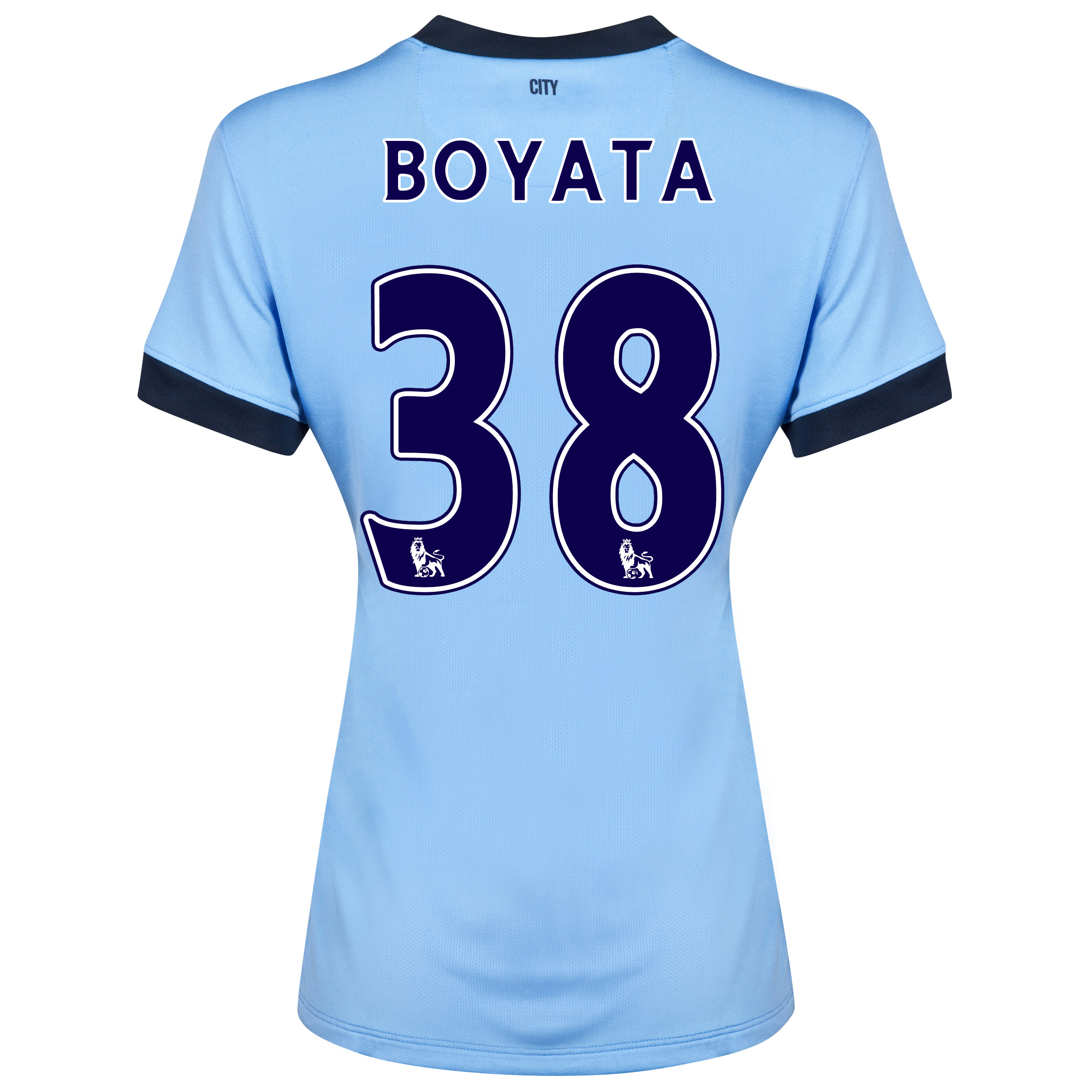 Manchester City Home Shirt 2014/15 - Womens Sky Blue with Boyata 38 printing