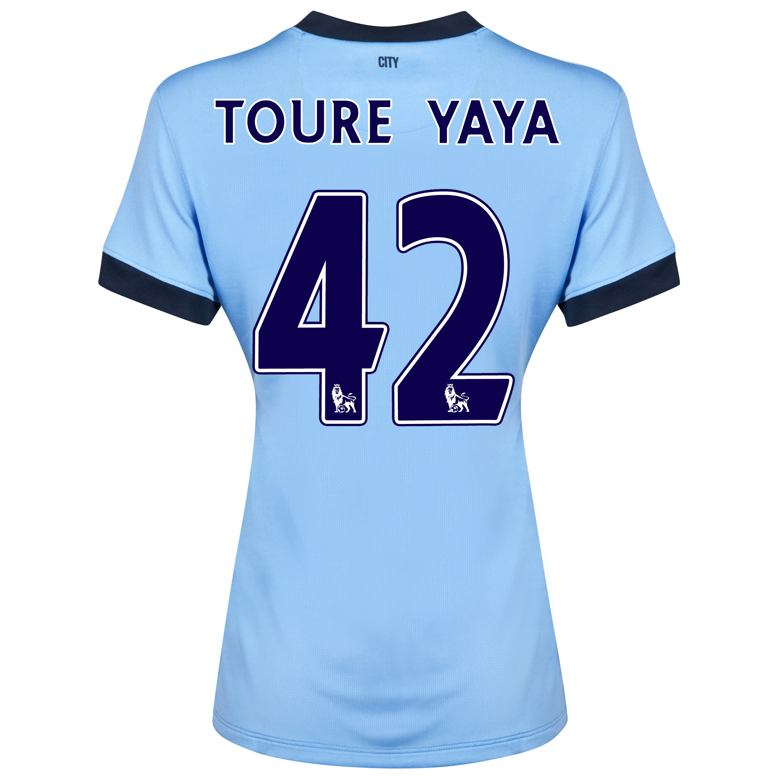 Manchester City Home Shirt 2014/15 - Womens Sky Blue with Toure Yaya 42 printing