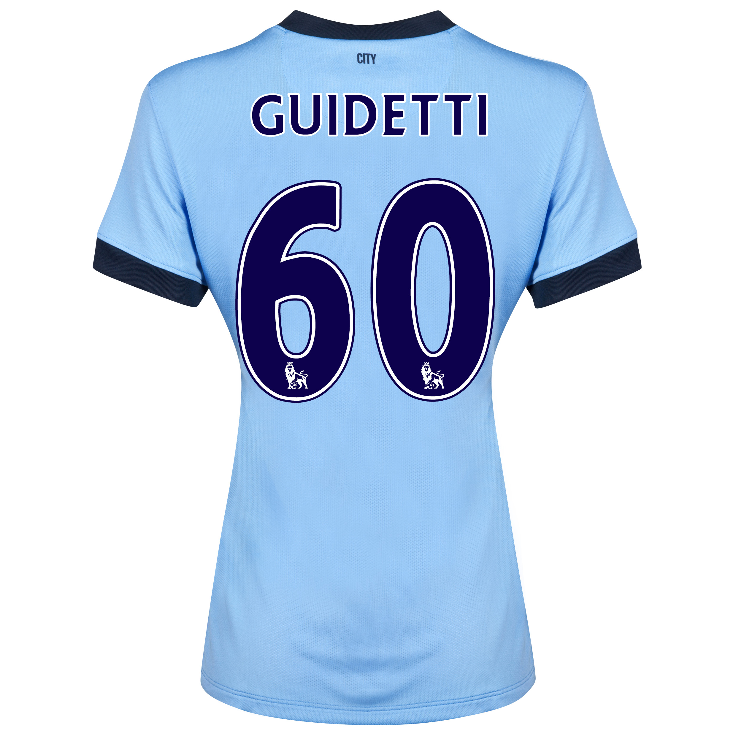 Manchester City Home Shirt 2014/15 - Womens Sky Blue with Guidetti 60 printing