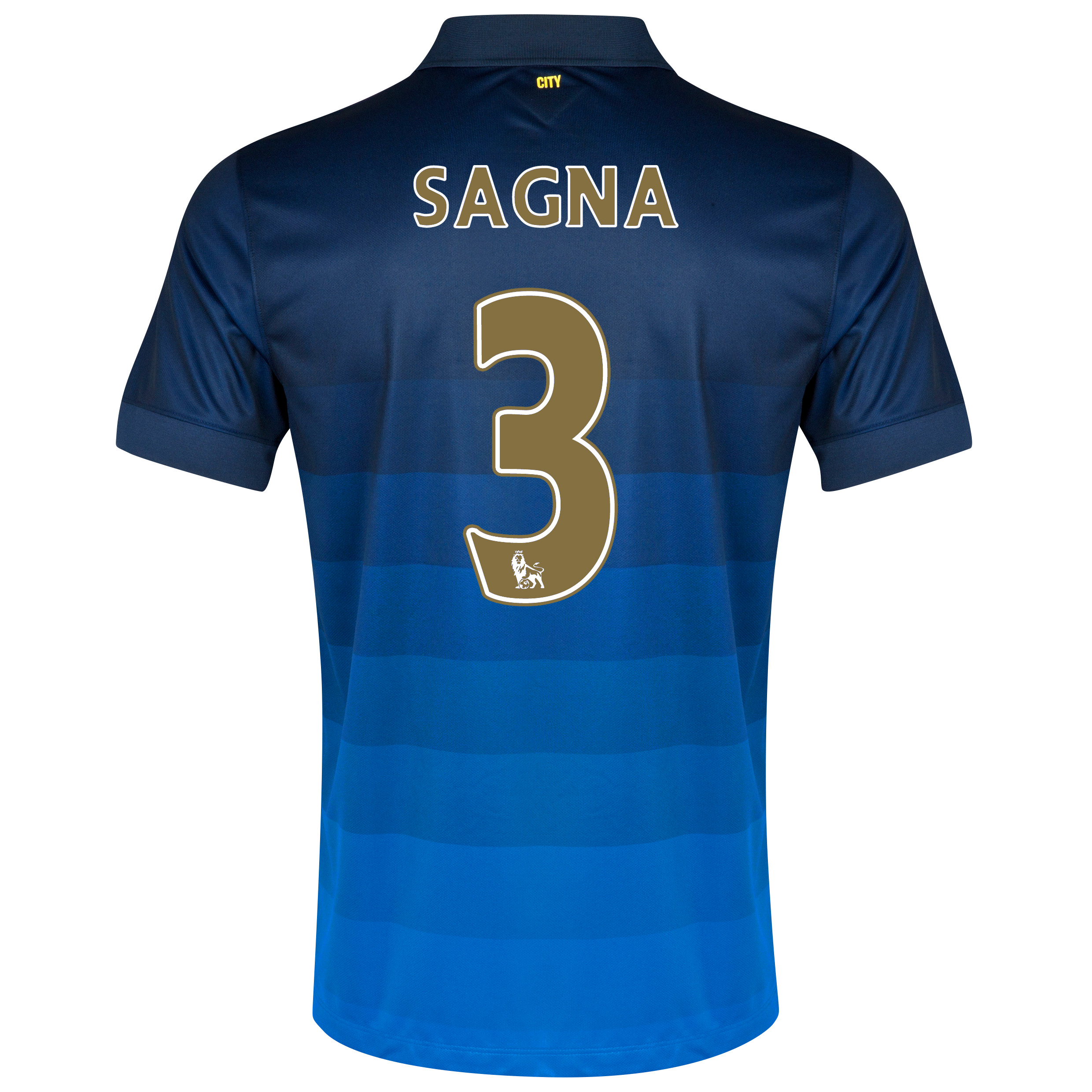 Manchester City Away Shirt 2014/15 with Sagna 3 printing