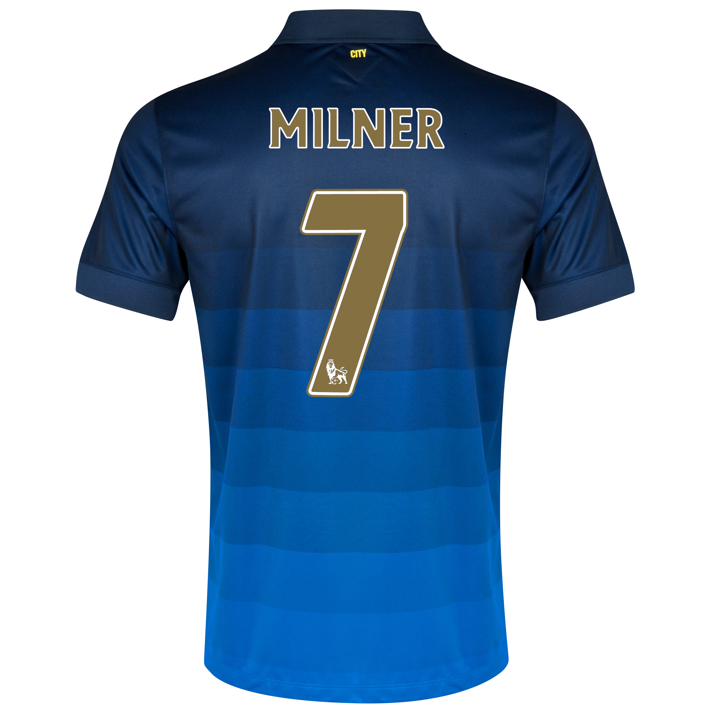 Manchester City Away Shirt 2014/15 with Milner 7 printing