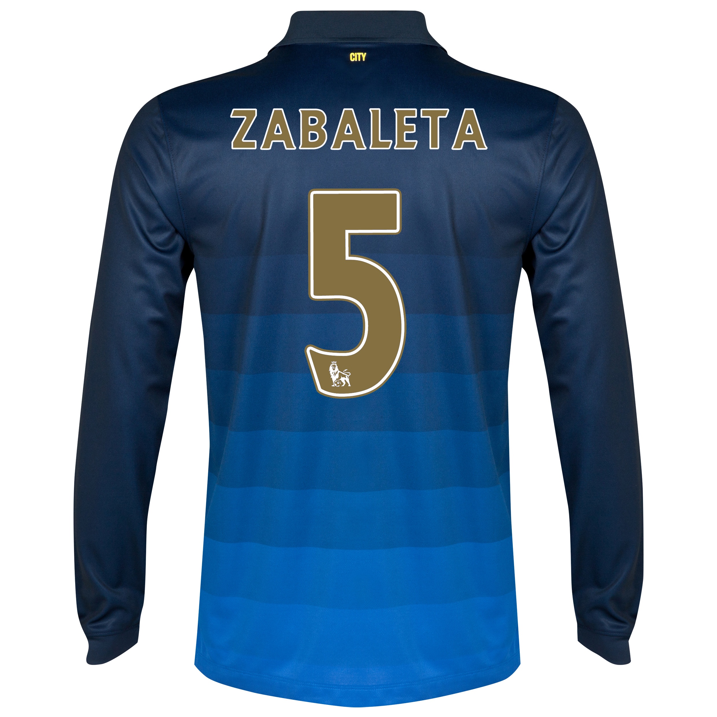 Manchester City Away Shirt 2014/15 - Long Sleeve Dk Blue with Zabaleta 5 printing