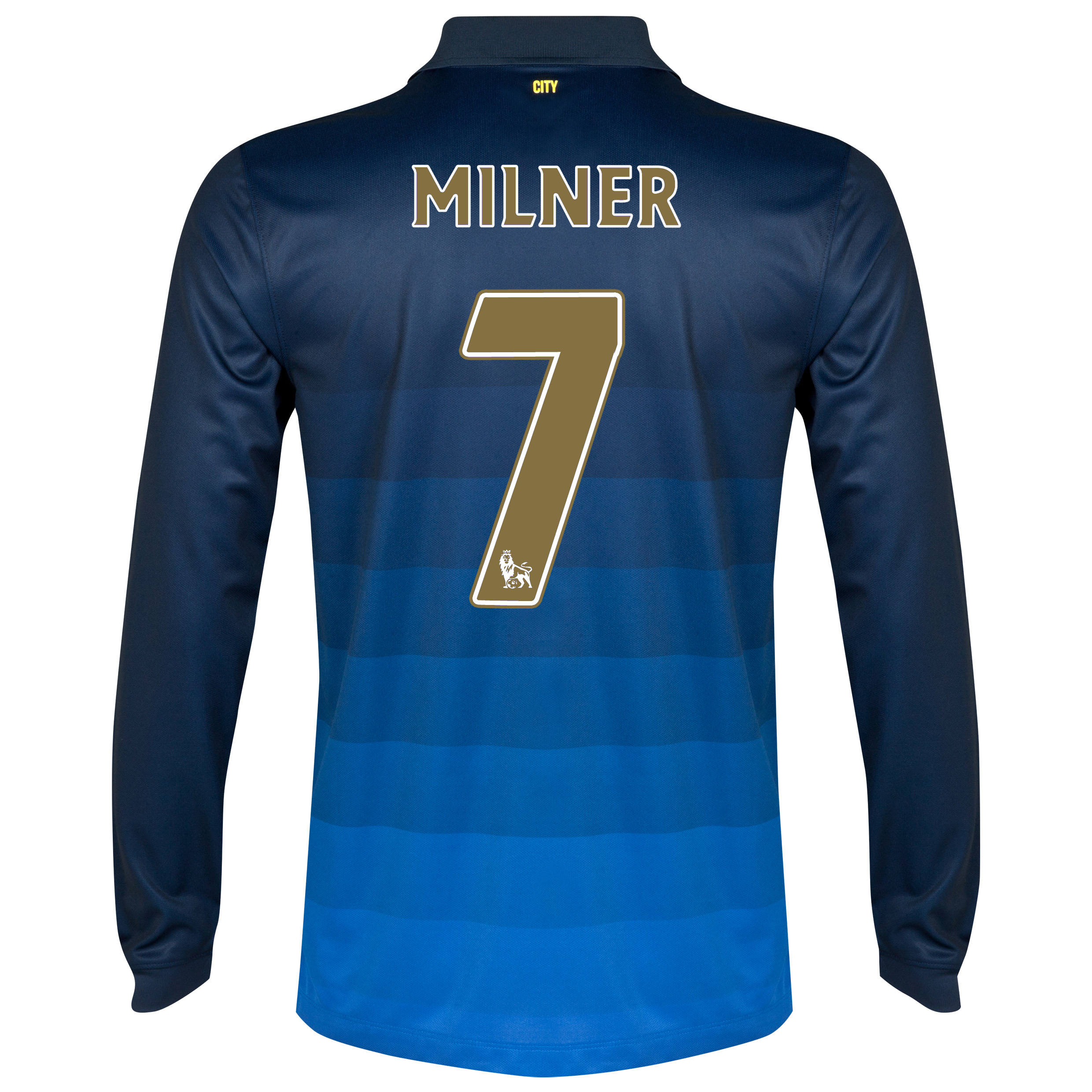 Manchester City Away Shirt 2014/15 - Long Sleeve Dk Blue with Milner 7 printing
