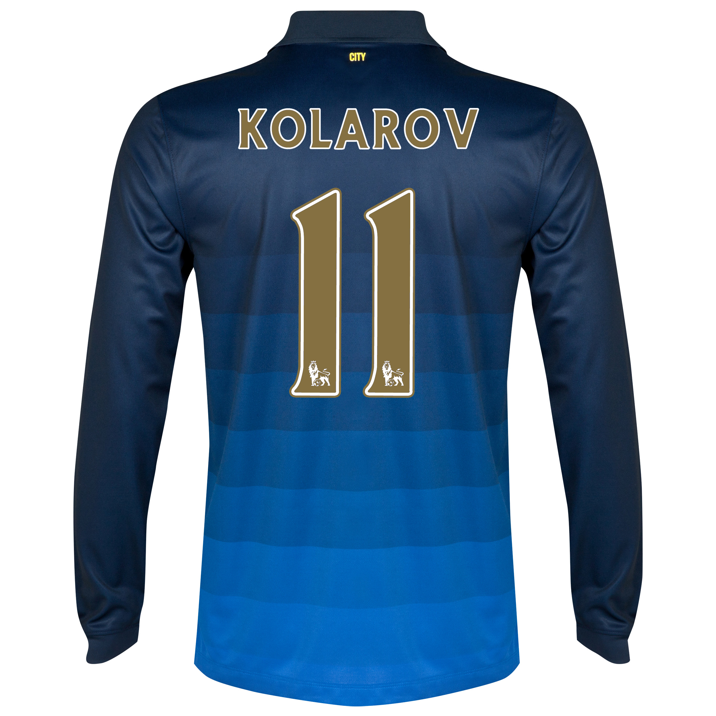 Manchester City Away Shirt 2014/15 - Long Sleeve Dk Blue with Kolarov 11 printing