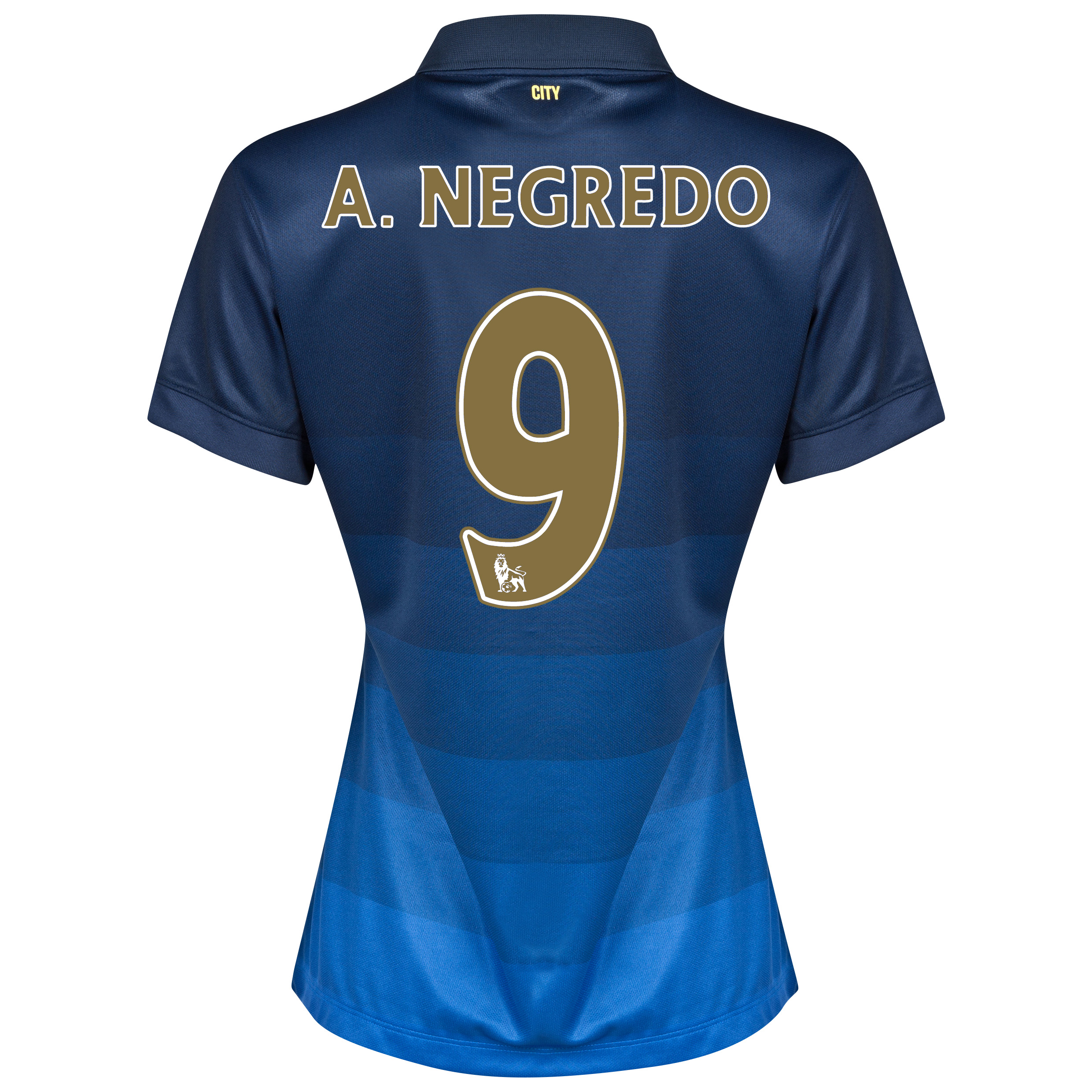 Manchester City Away Shirt 2014/15 - Womens with A.Negredo 9 printing