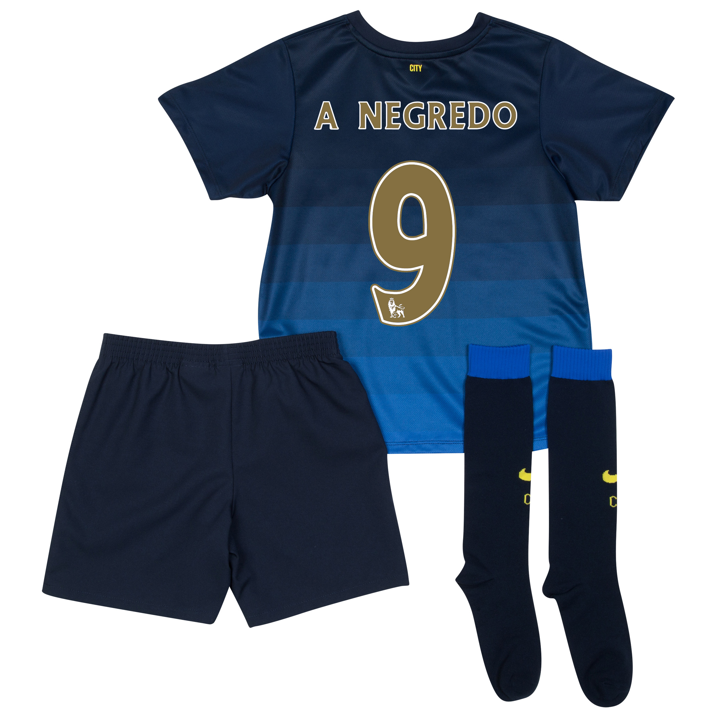 Manchester City Away Kit 2014/15 - Little Boys with A.Negredo 9 printing