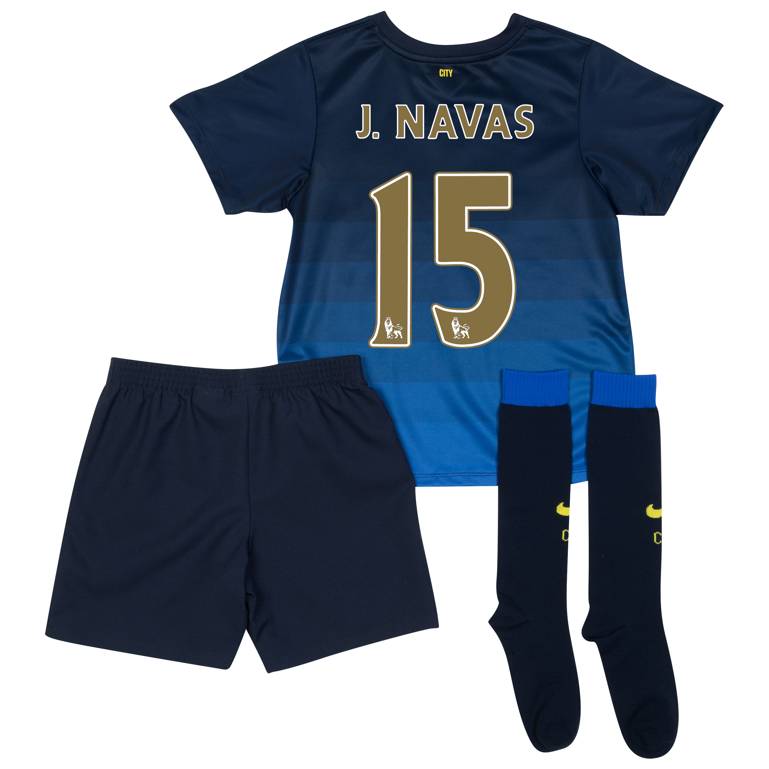 Manchester City Away Kit 2014/15 - Little Boys with J.Navas 15 printing
