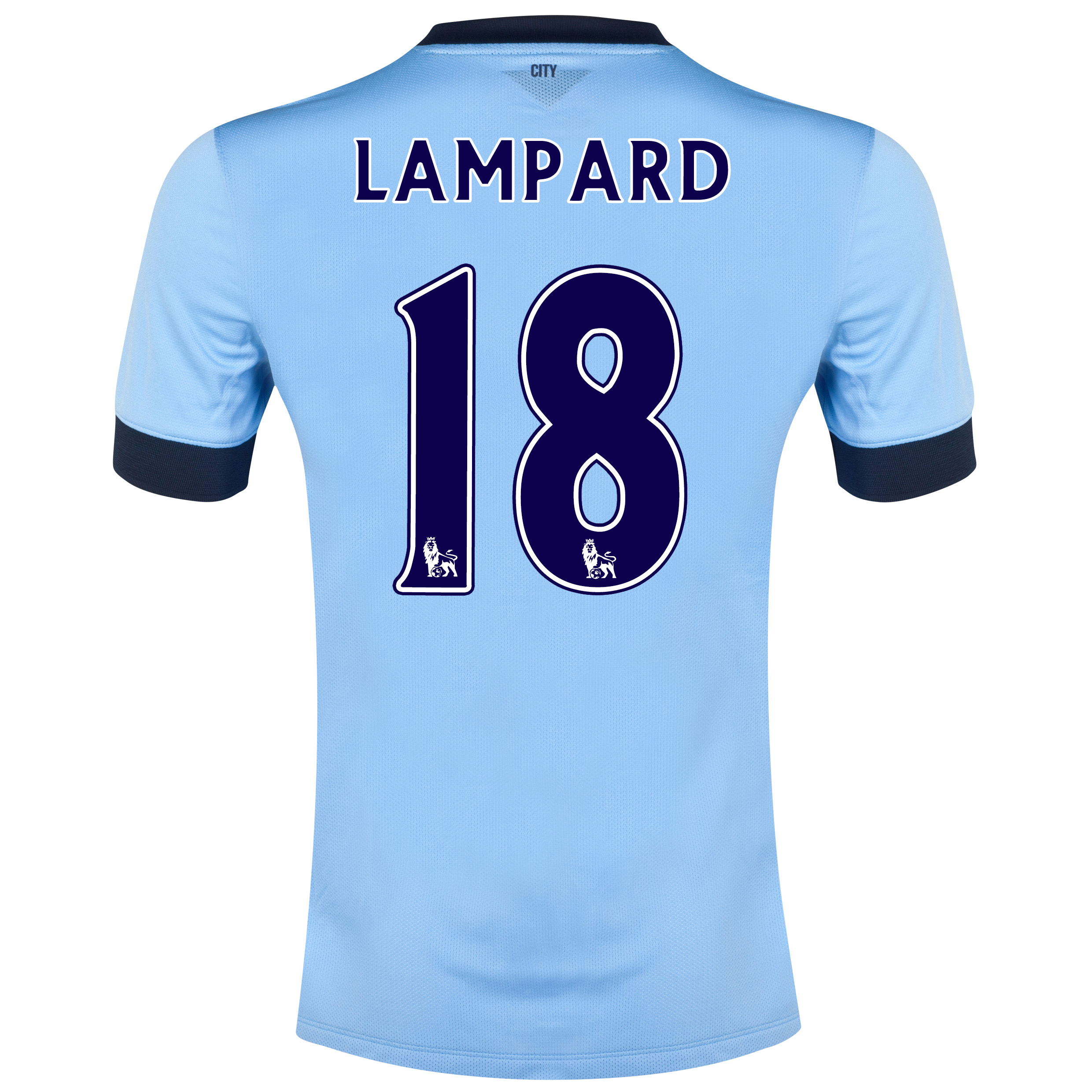 Manchester City Home Shirt 2014/15 Sky Blue with Lampard 18 printing