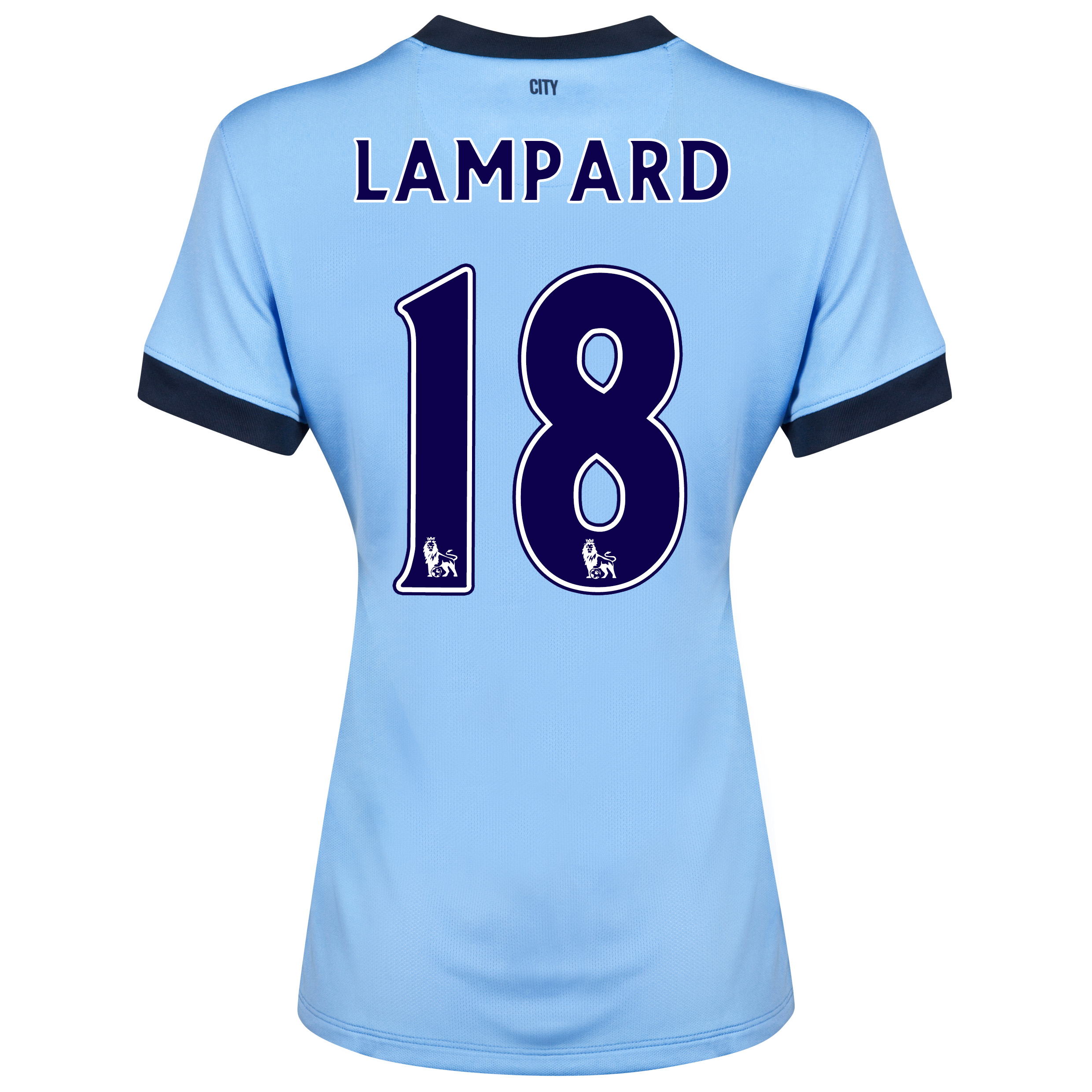 Manchester City Home Shirt 2014/15 - Womens Sky Blue with Lampard 18 printing