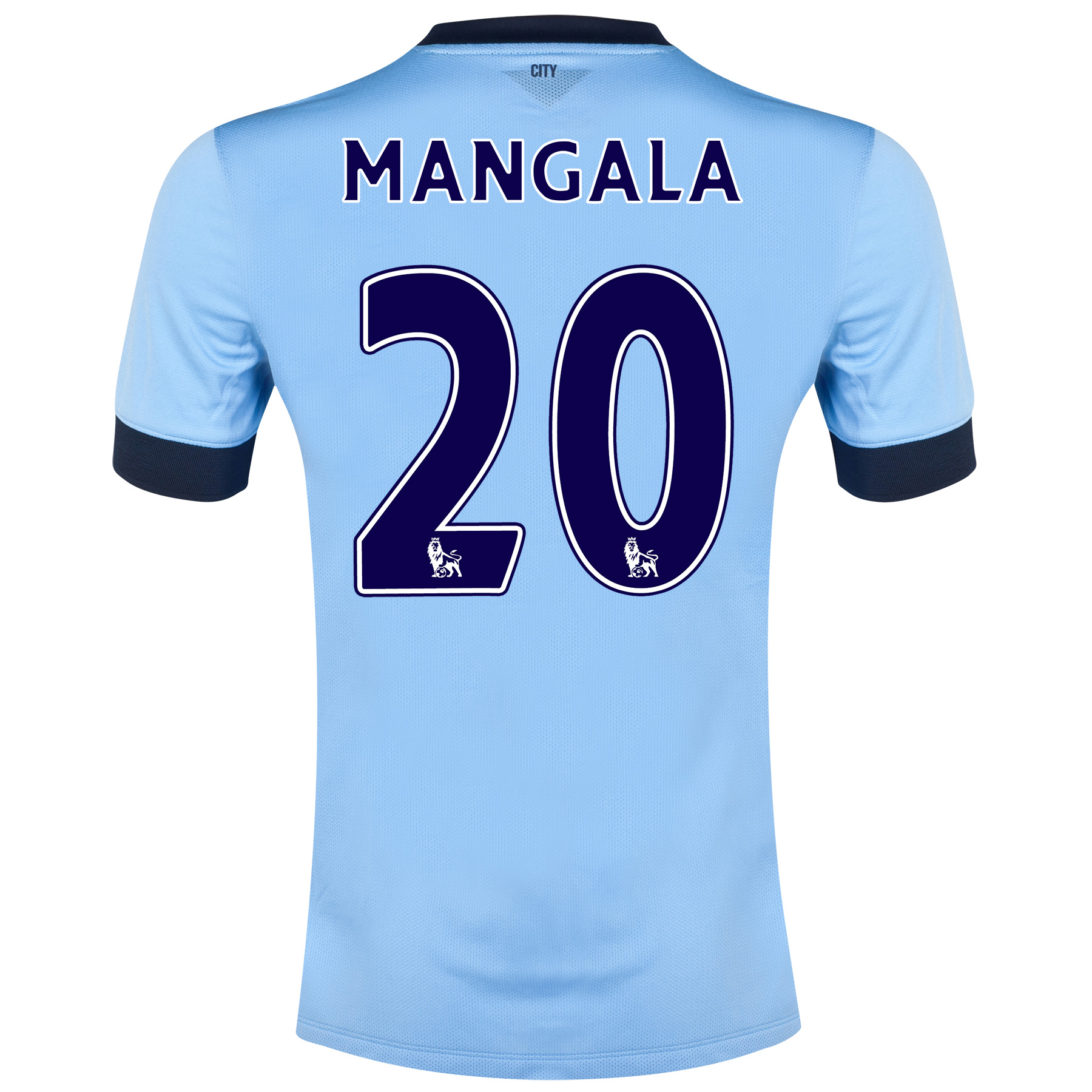 Manchester City Home Shirt 2014/15 - Kids Sky Blue with Mangala 20 printing