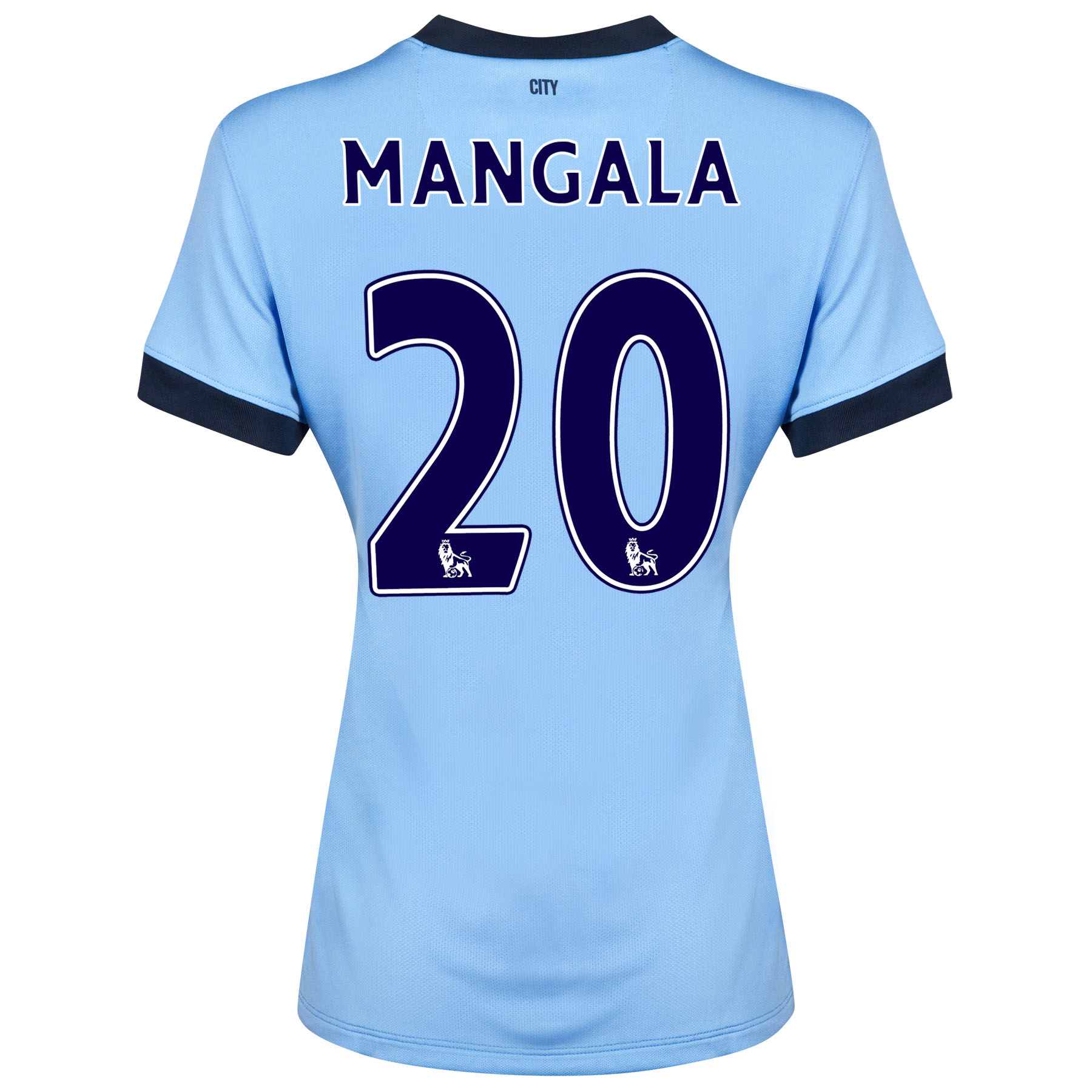 Manchester City Home Shirt 2014/15 - Womens Sky Blue with Mangala 20 printing