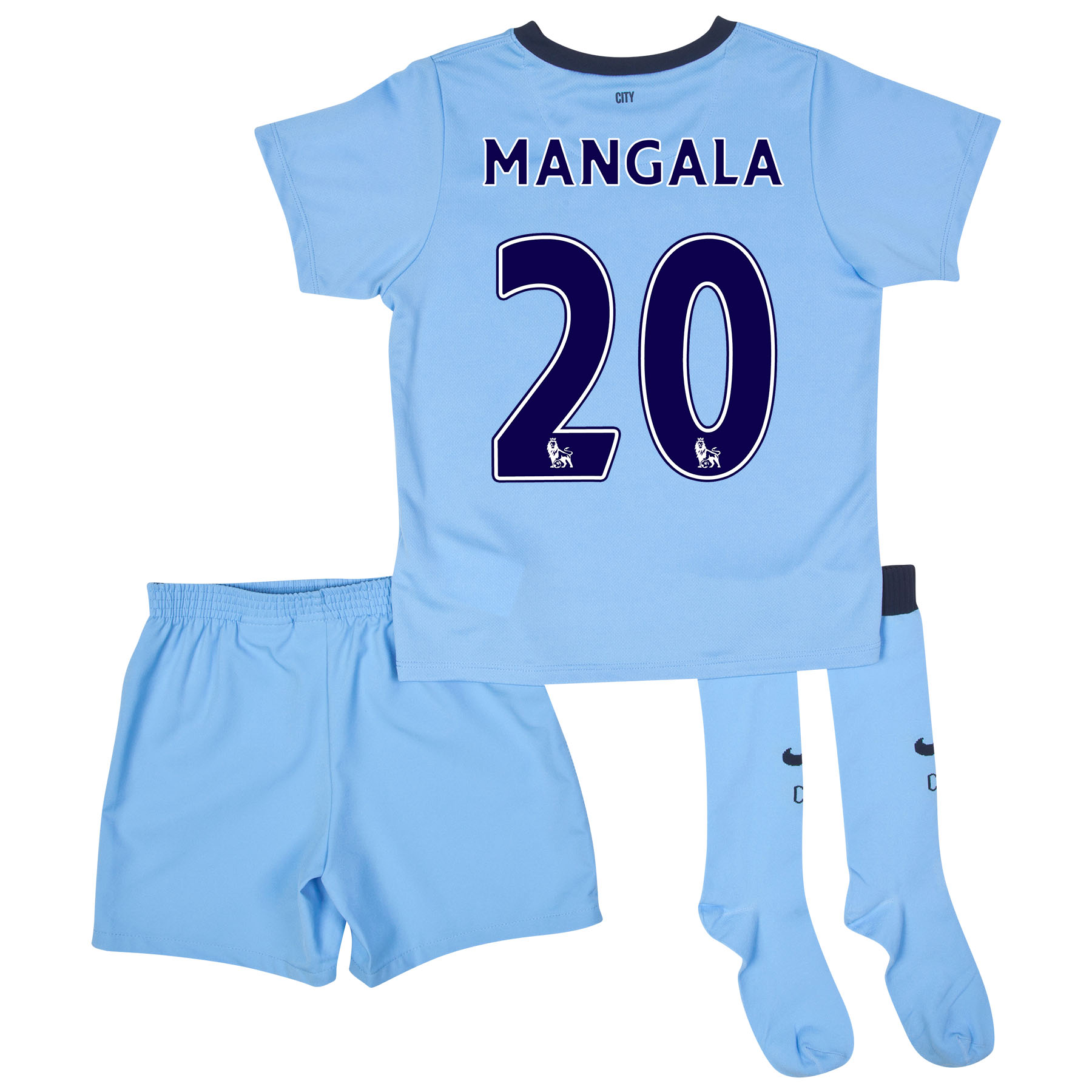 Manchester City Home Kit 2014/15 - Little Boys Sky Blue with Mangala 20 printing