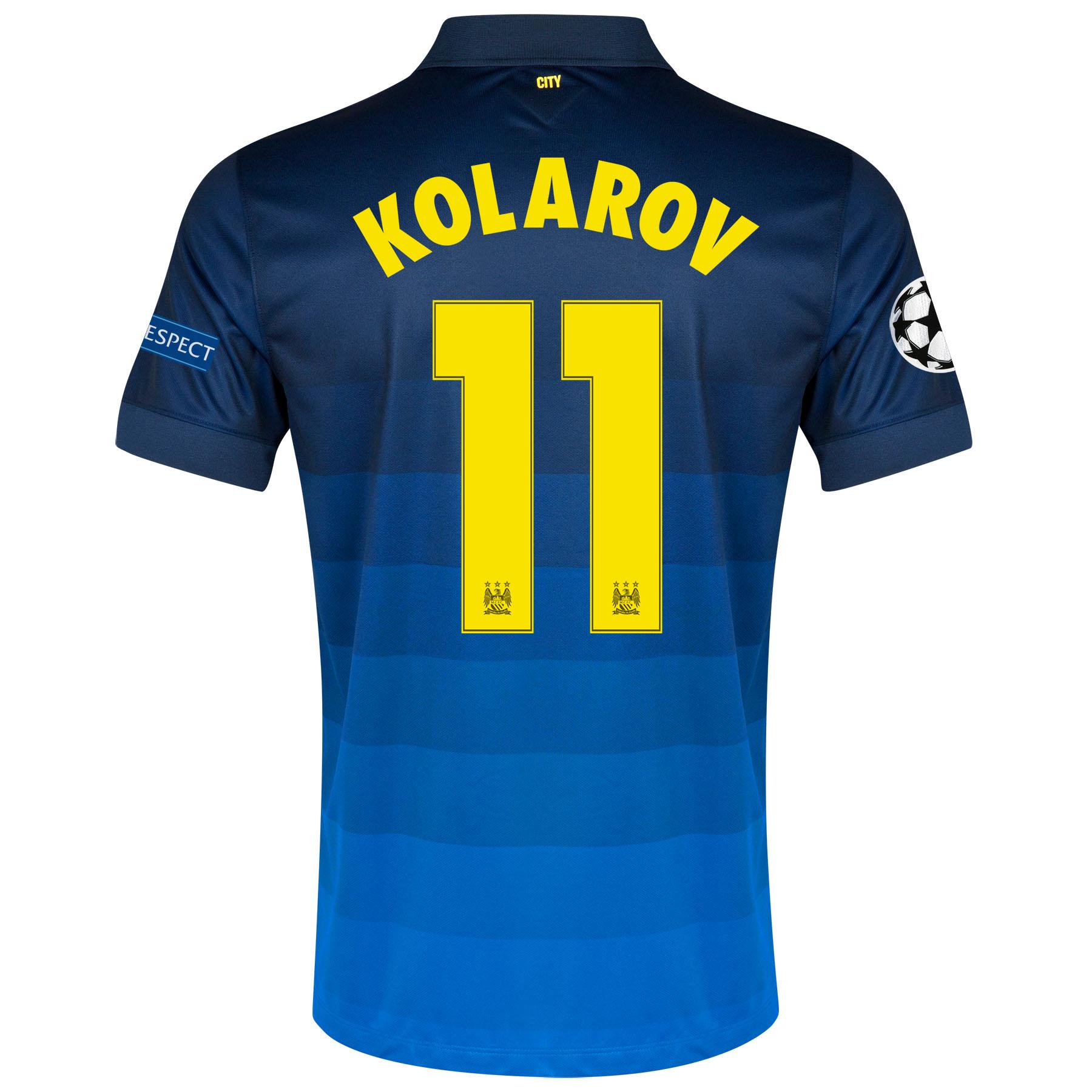 Manchester City UEFA Champions League Away Shirt 2014/15 with Kolarov 11 printing